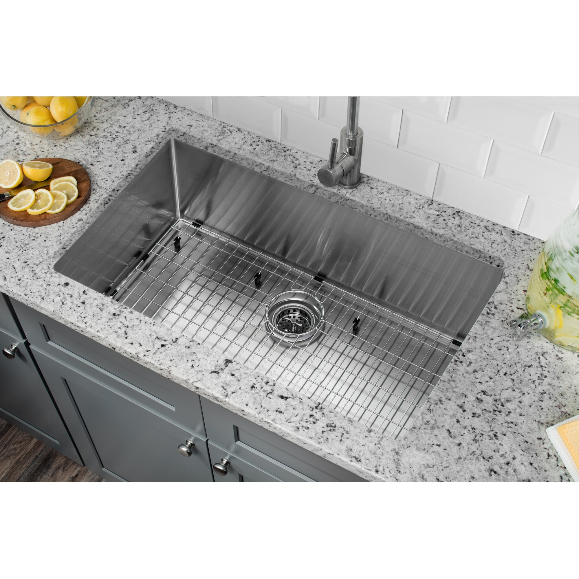 32 x 19 stainless steel 16 gauge radius single bowl kitchen sink - Stainless Steel Kitchen Sink Gauge