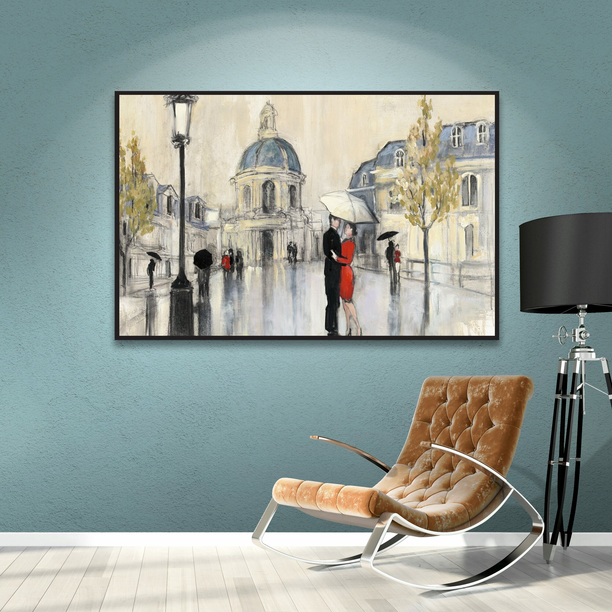 spring rain paris framed painting print reviews joss With kitchen cabinets lowes with paris springtime canvas wall art