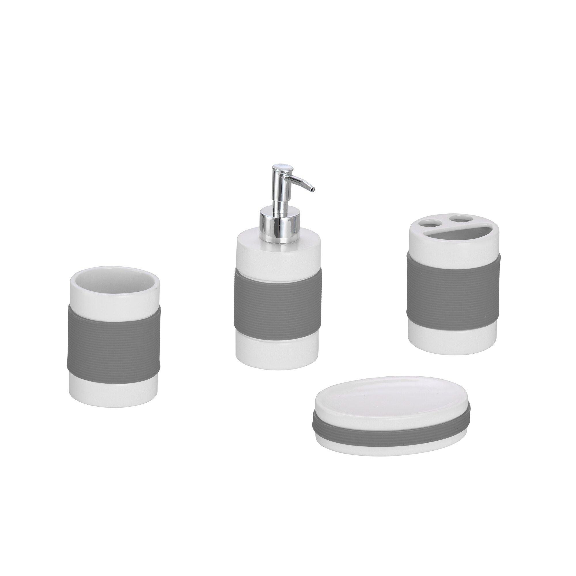 4 Piece Bathroom Accessory Set The Twillery Co Hardy 4 Piece Bathroom Accessory Set Reviews