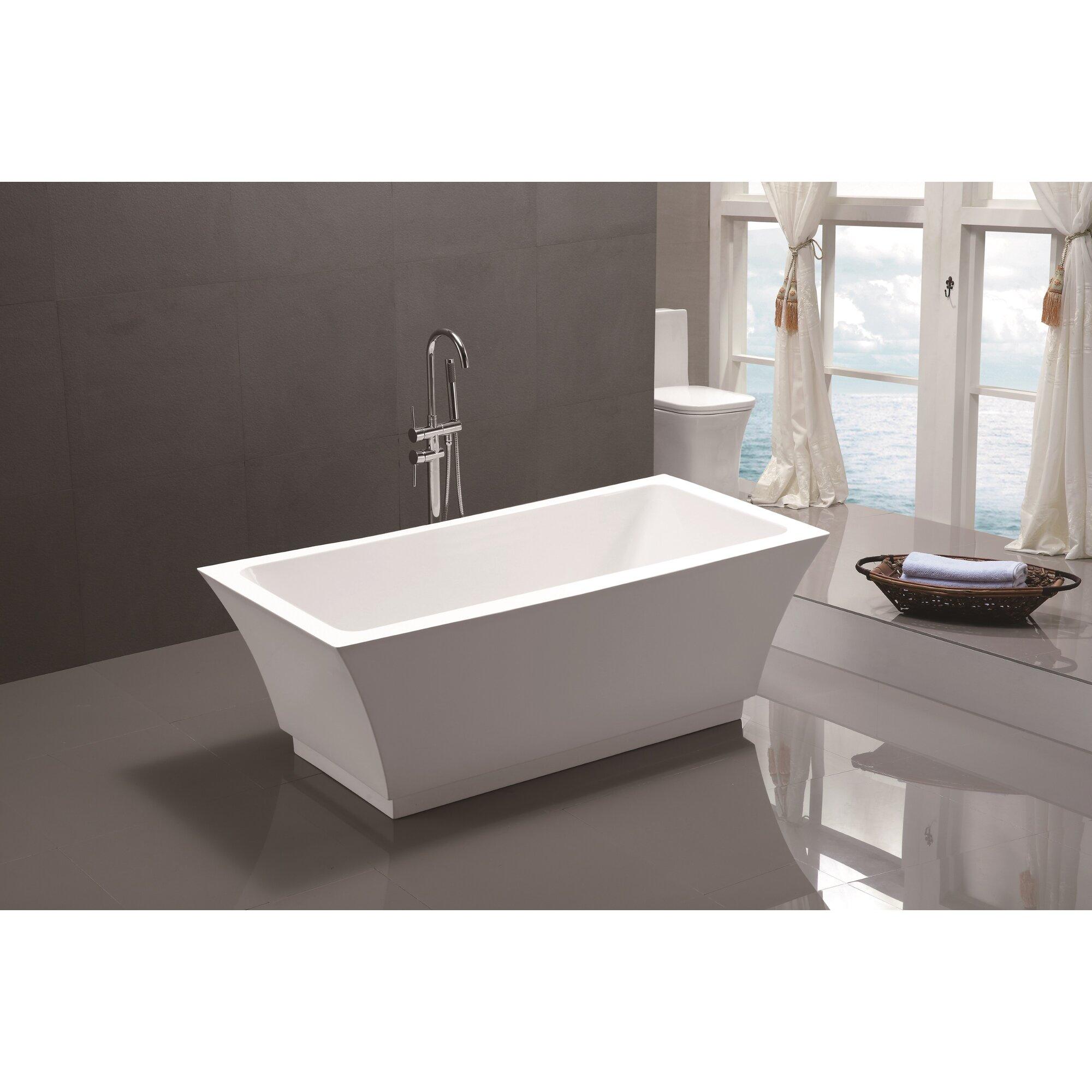Vanity Art 59 Quot X 29 5 Quot Freestanding Soaking Bathtub