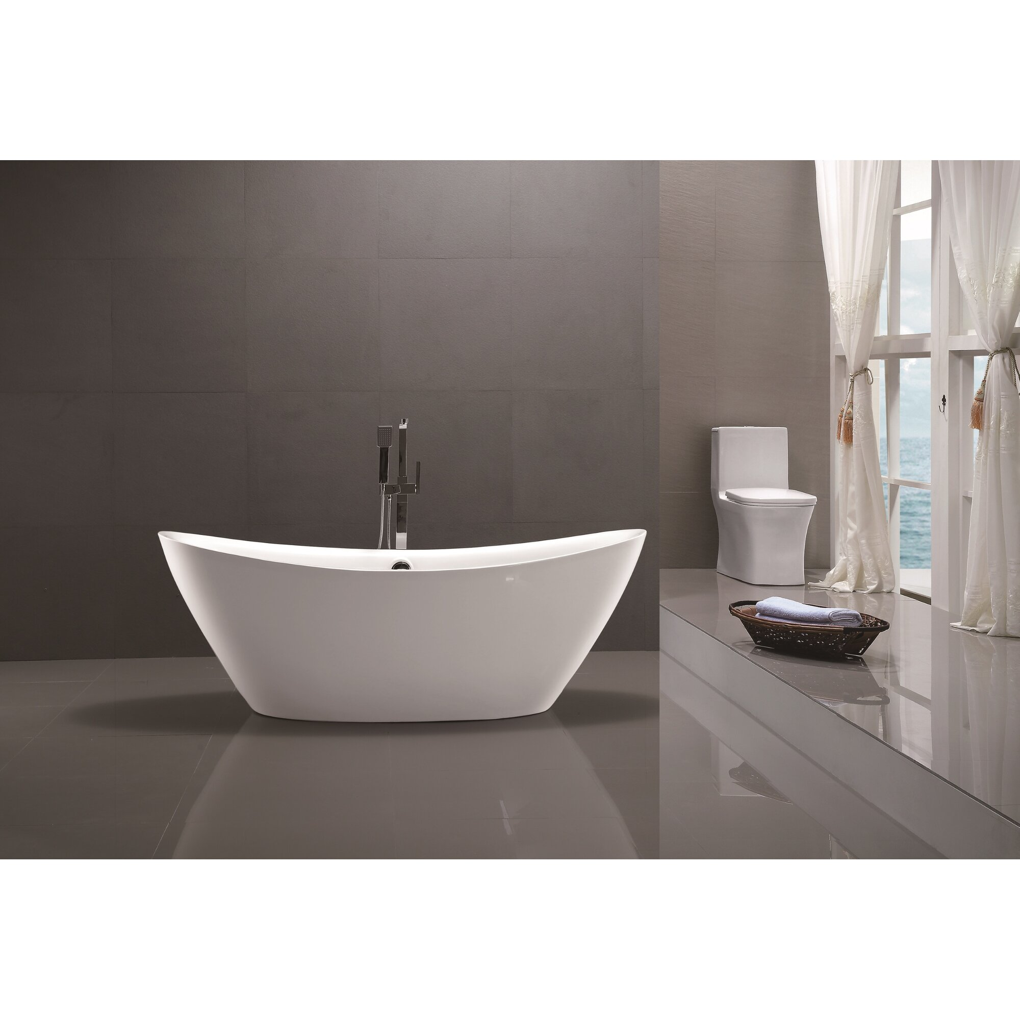 Vanity Art 71 Quot X 34 Quot Freestanding Soaking Bathtub