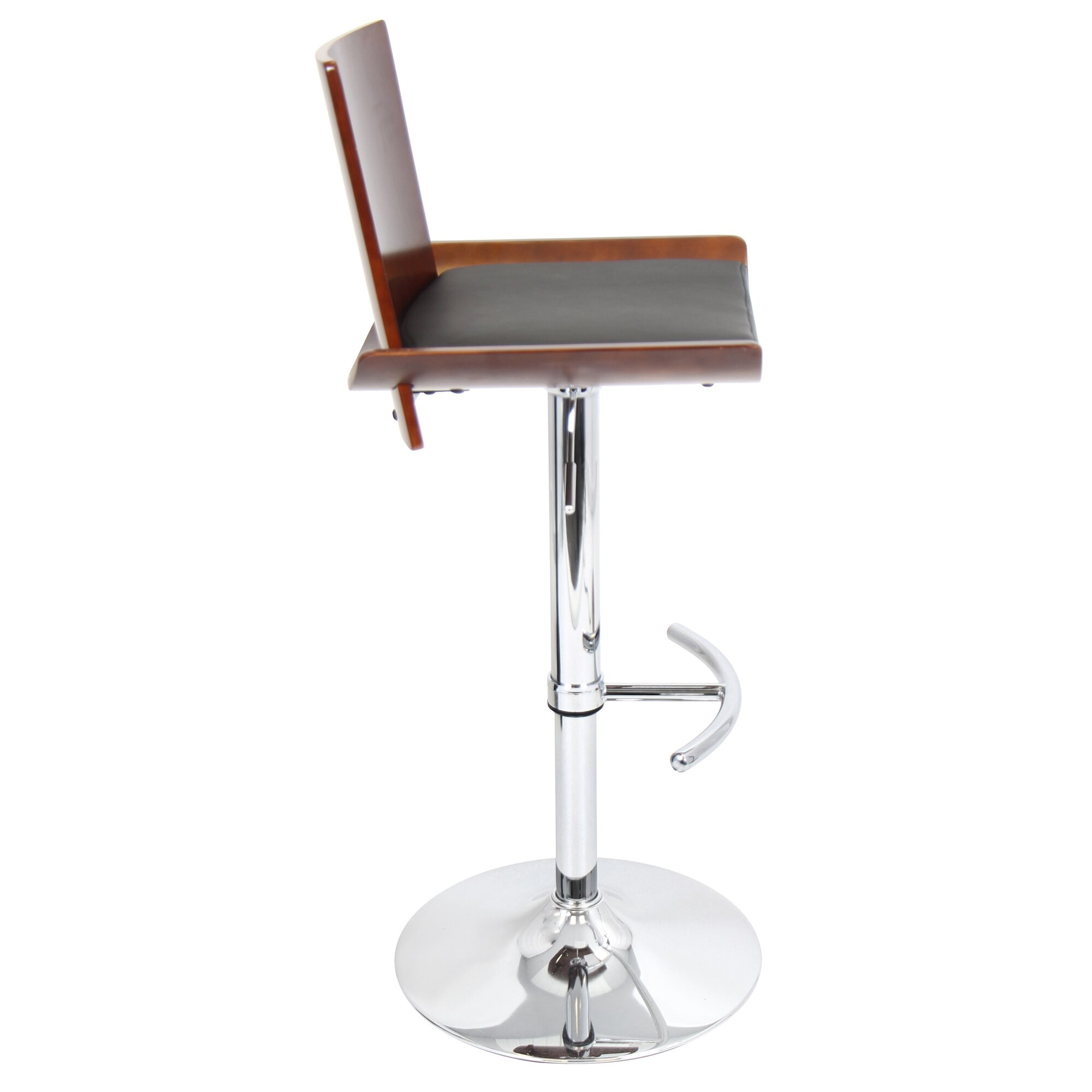 Lumisource Vittorio Adjustable Height Swivel Bar Stool