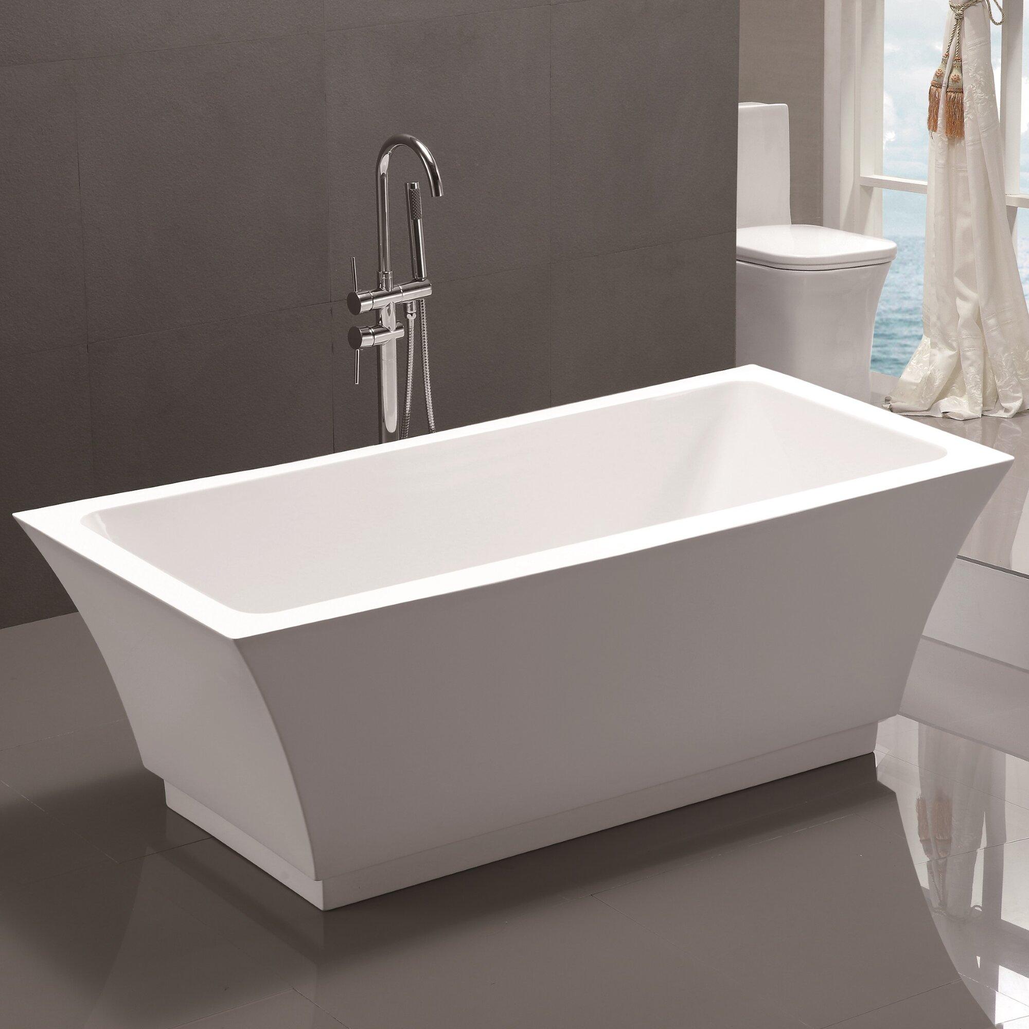 "Vanity Art 59"" X 29.5"" Freestanding Soaking Bathtub"