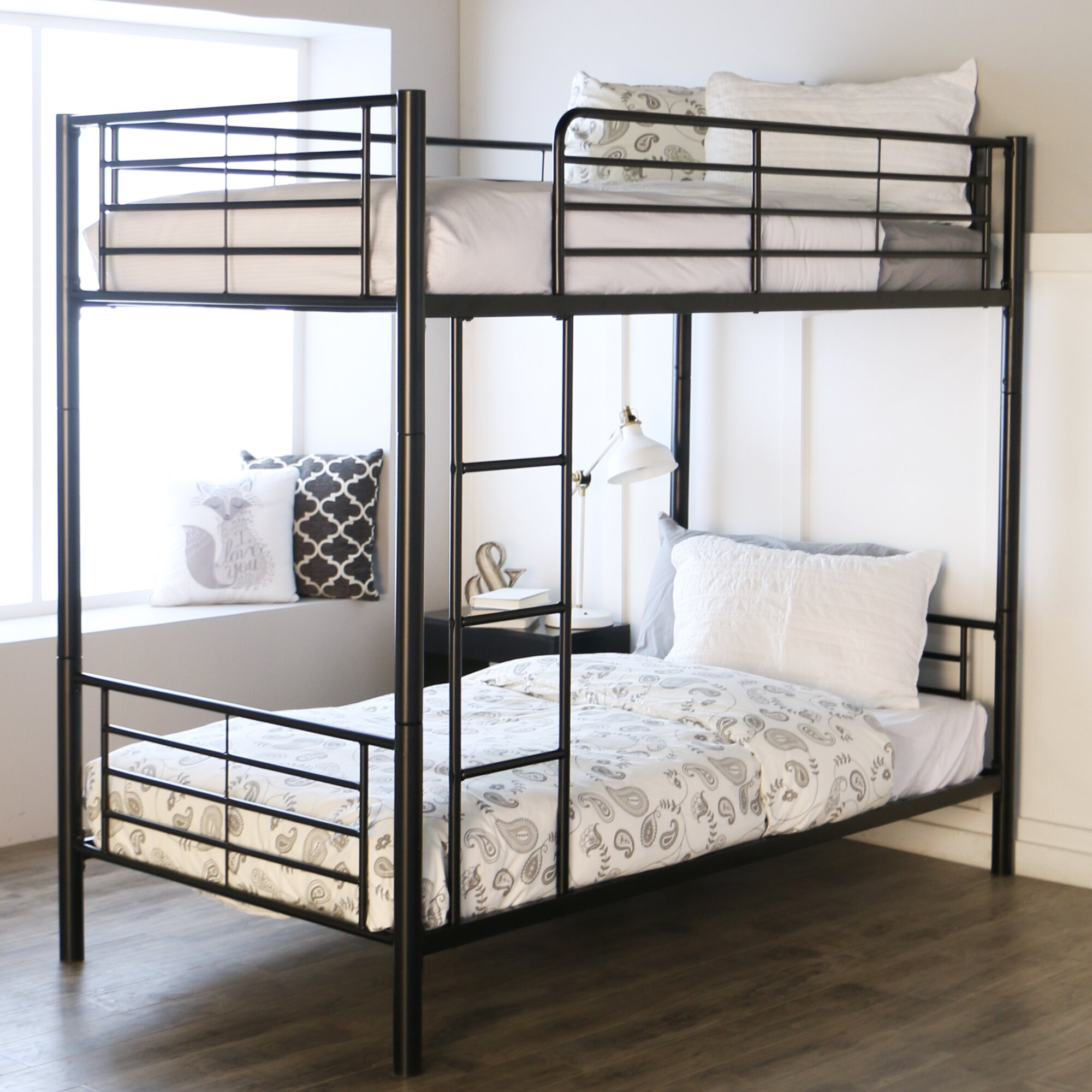 Viv rae malia twin bunk bed reviews wayfair for 2 twin beds for sale