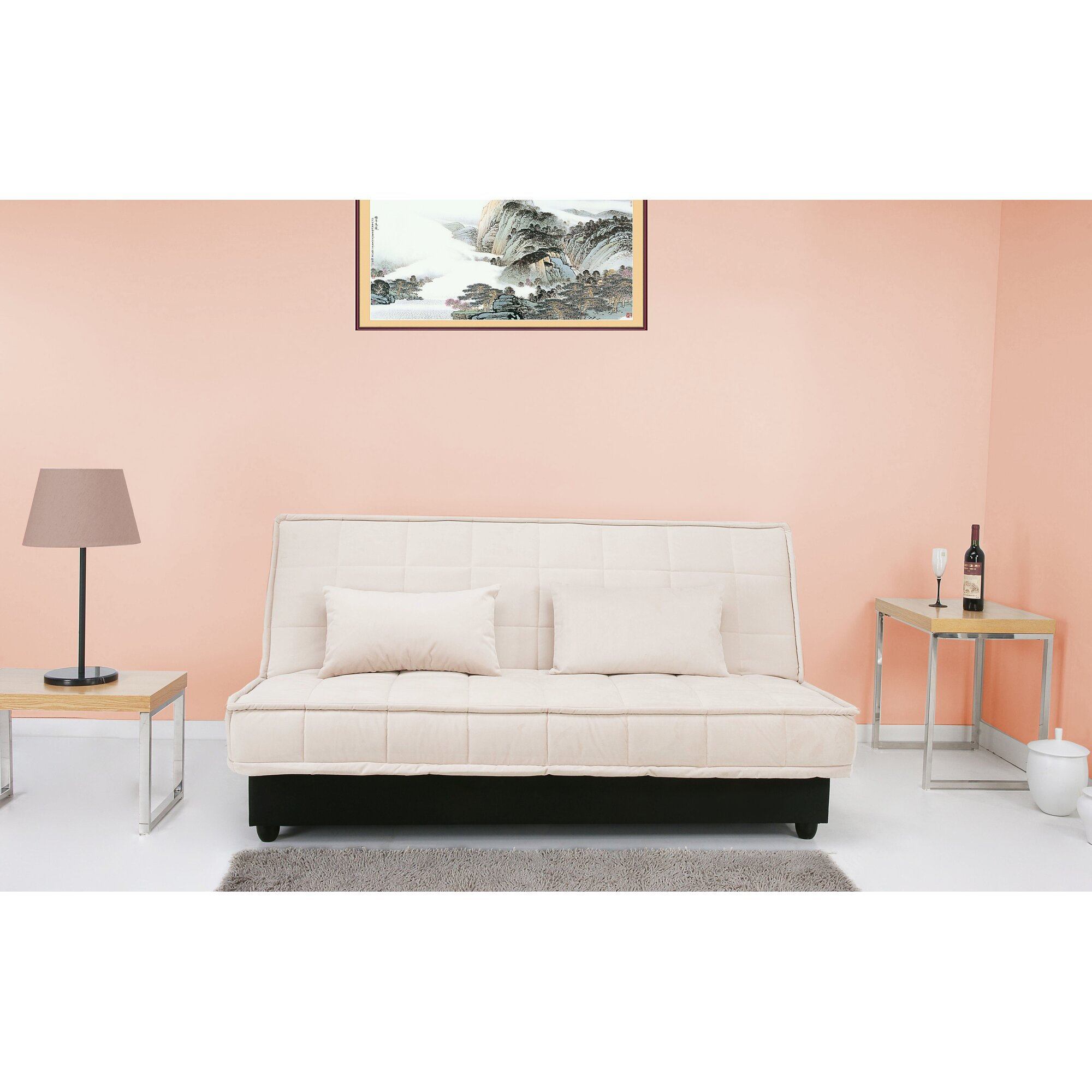 leader lifestyle yoko 3 seater clic clac sofa bed. Black Bedroom Furniture Sets. Home Design Ideas