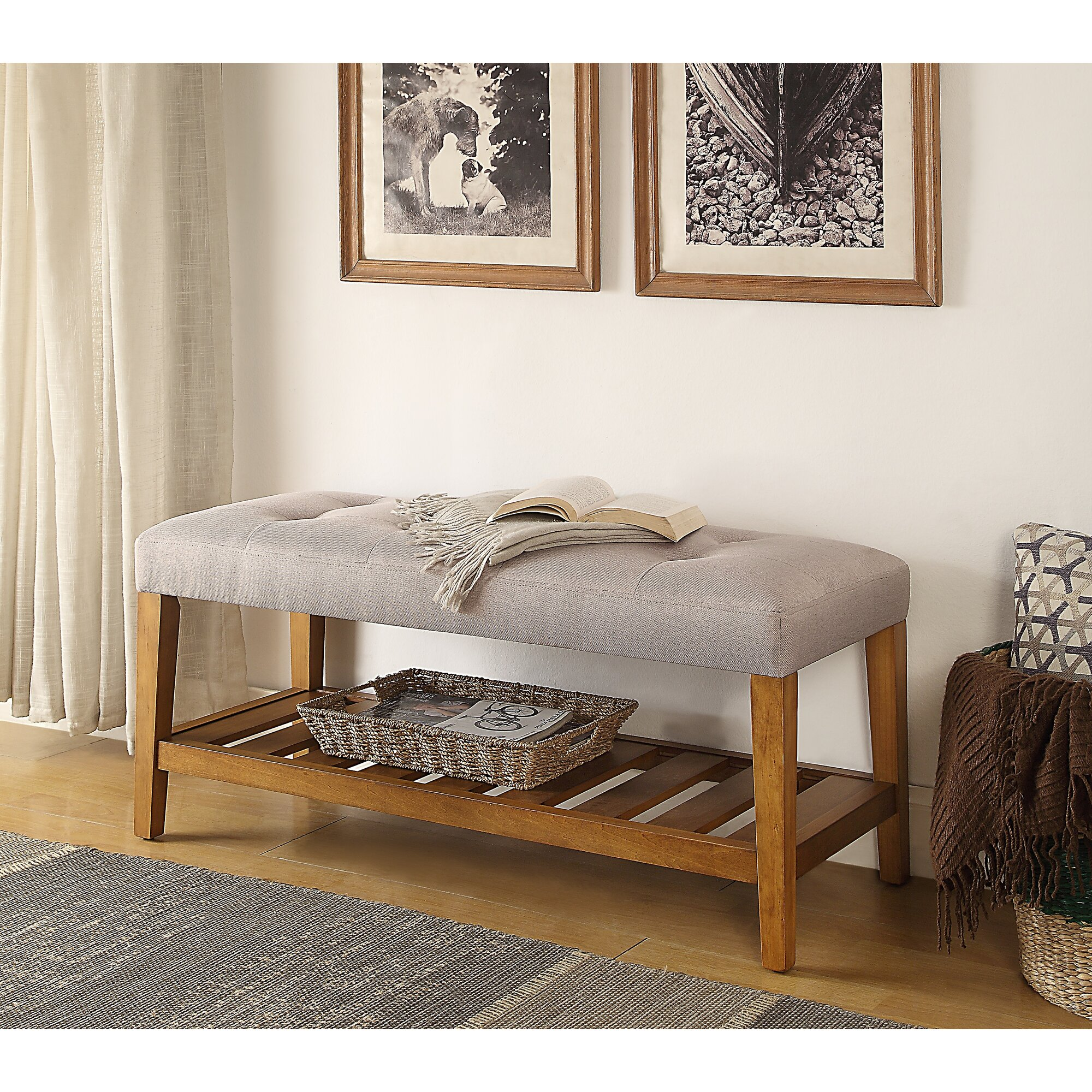 Charla Wood Storage Entryway Bench & Reviews