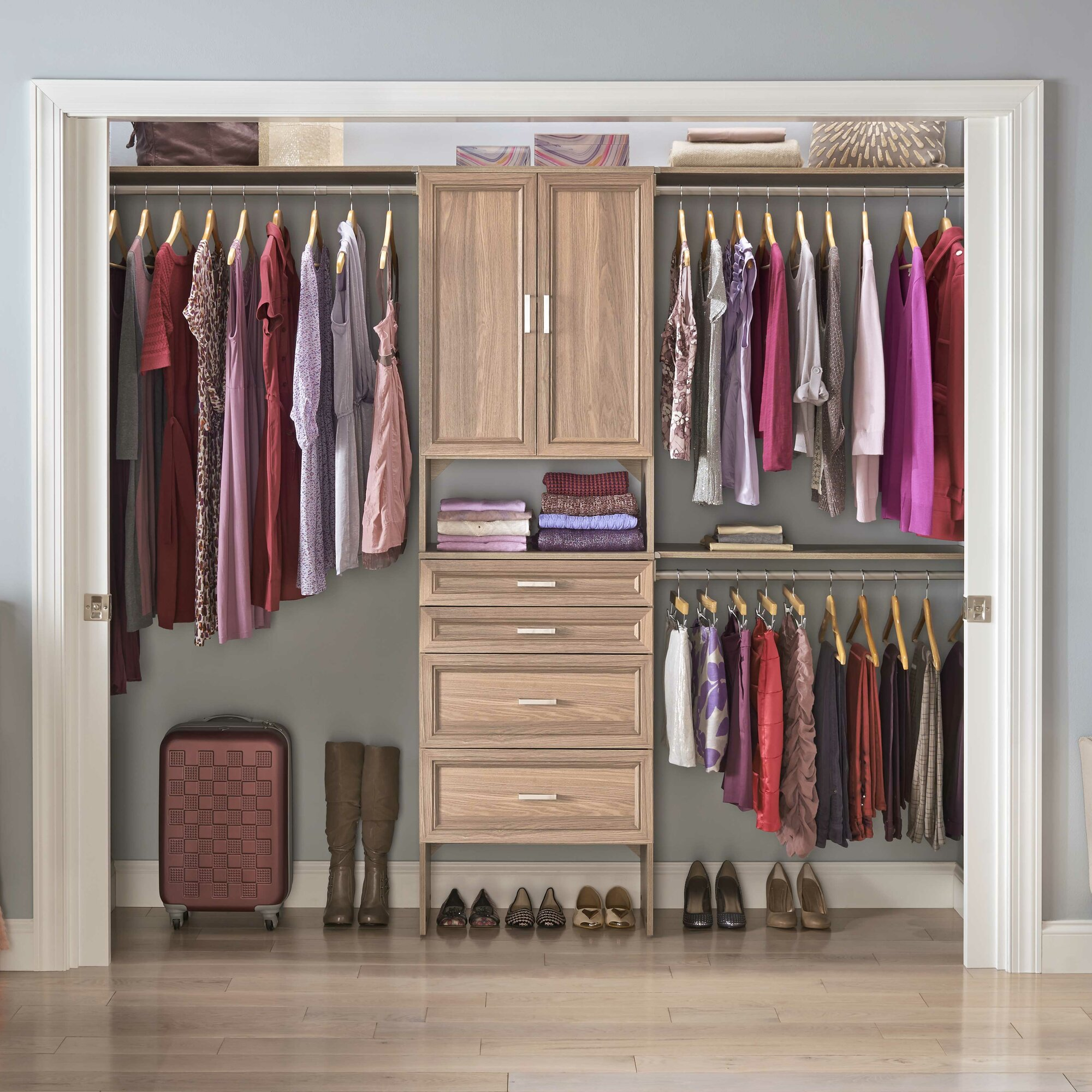 Closetmaid suitesymphony 84 w 120 w closet system for One day doors and closets reviews