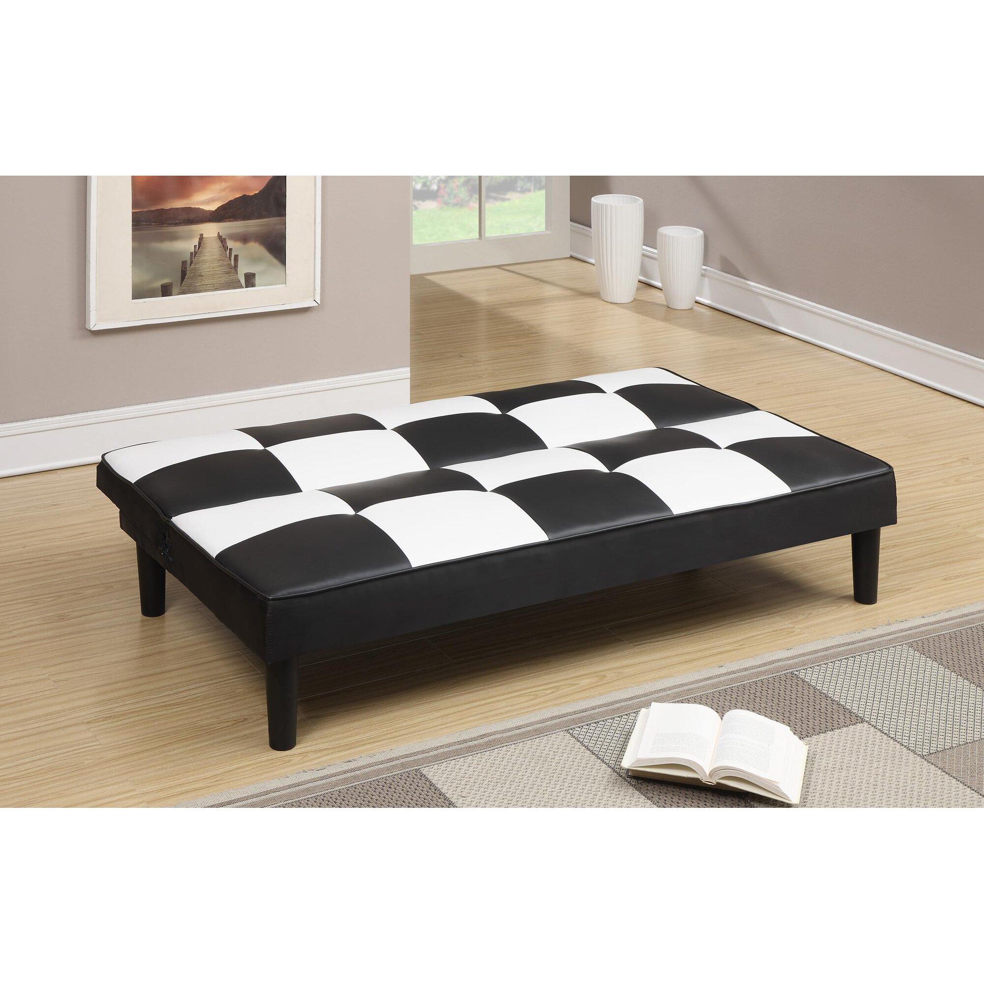 a j homes studio ventura faux leather adjustable sleeper