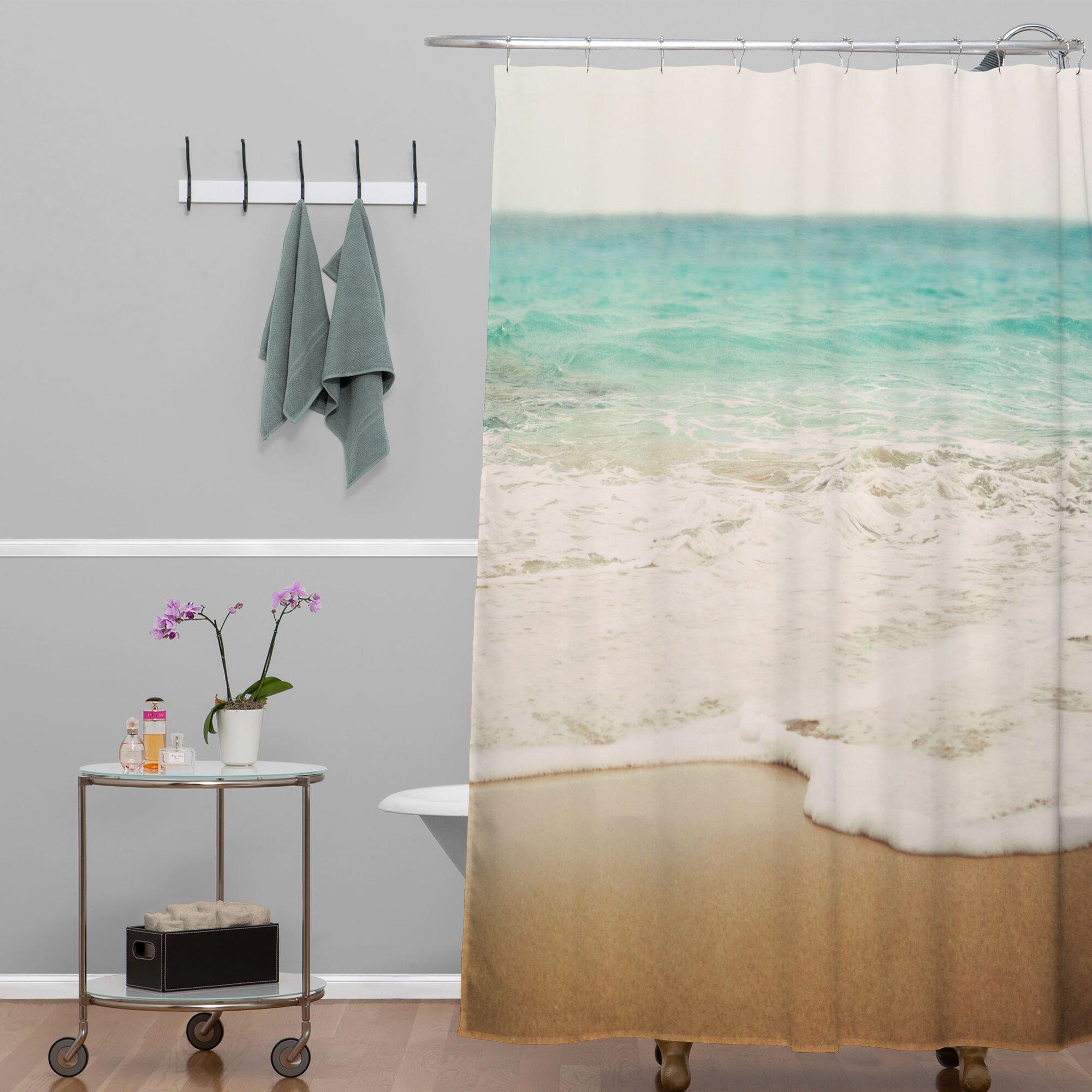 Beachy shower curtains - East Urban Home Bree Madden Ombre Beach Shower Curtain U0026 Reviews