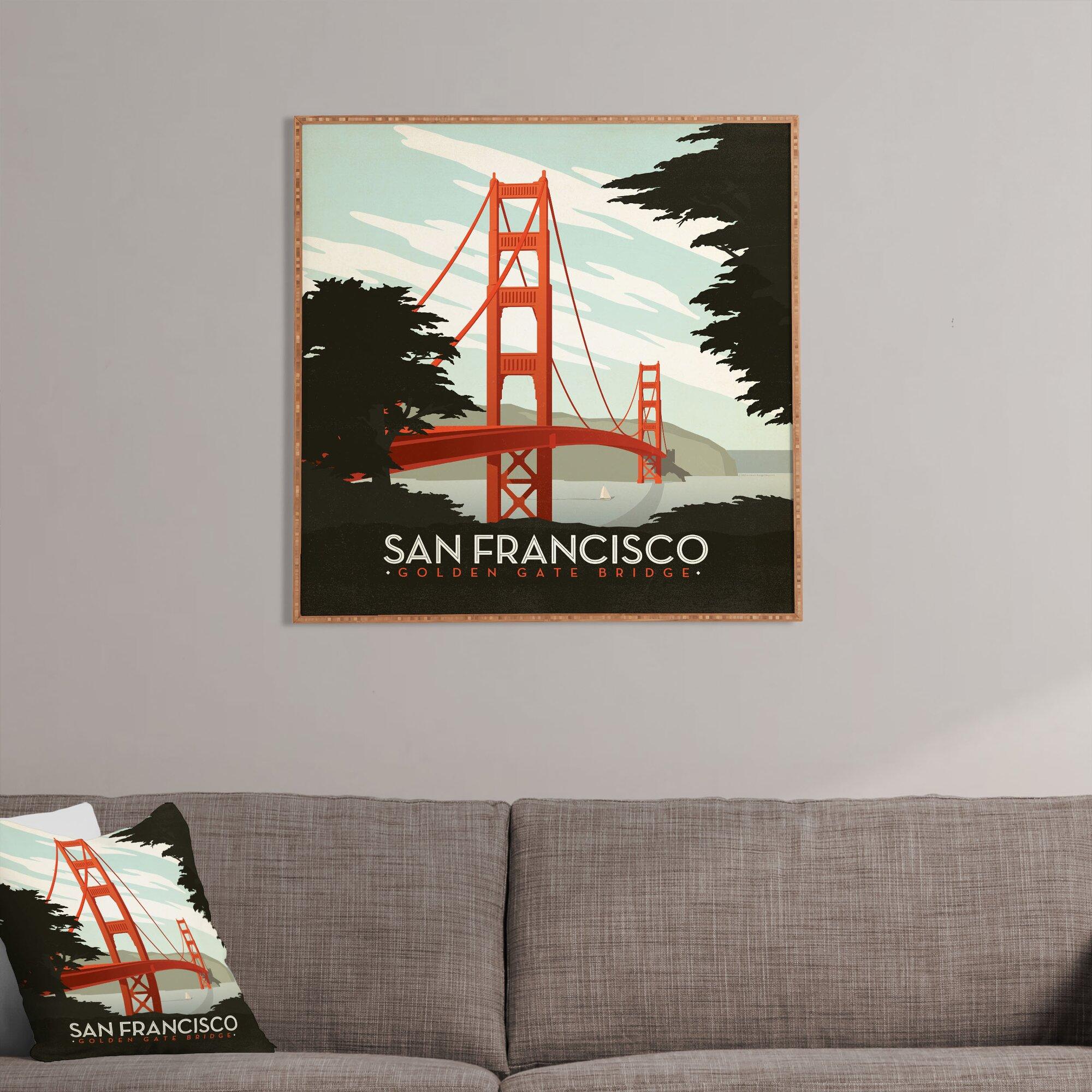 East Urban Home San Francisco Framed Vintage Advertisement Wayfair - Vintage furniture san francisco