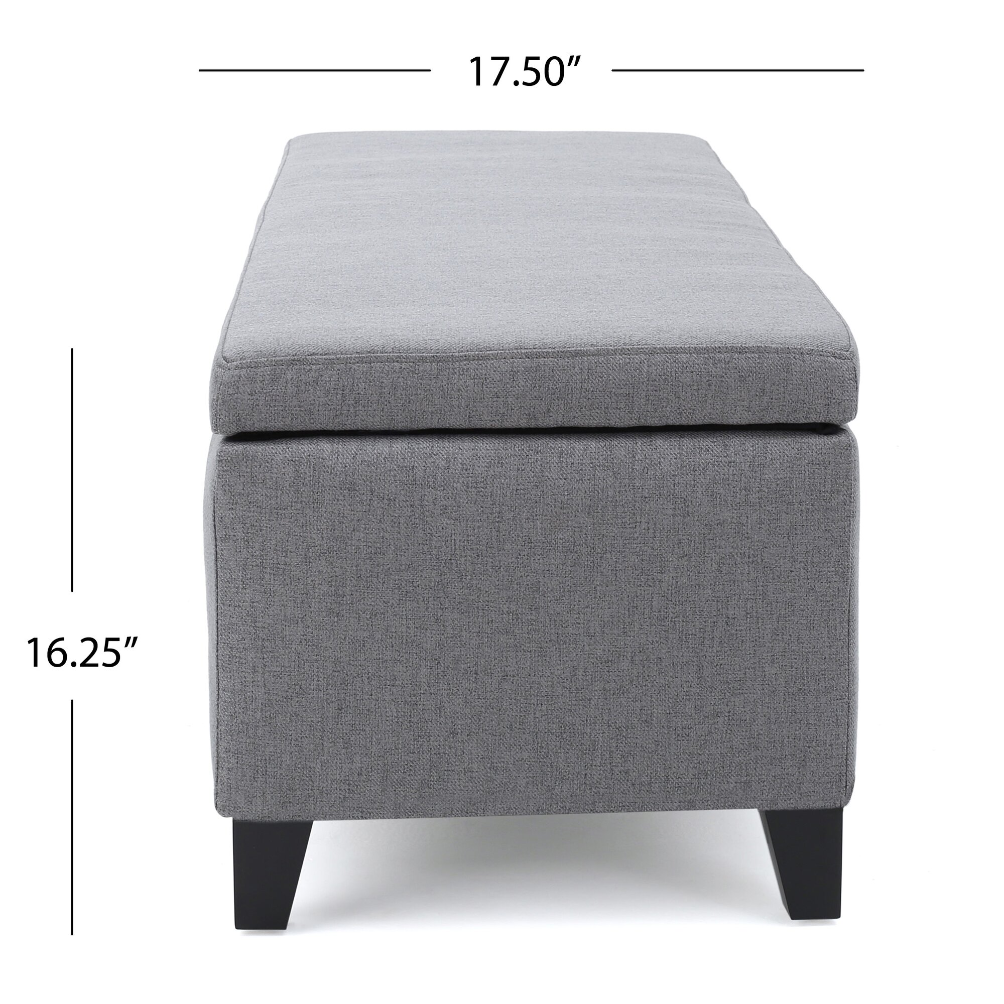 Bedroom bench dimensions - Schmit Upholstered Storage Bedroom Bench