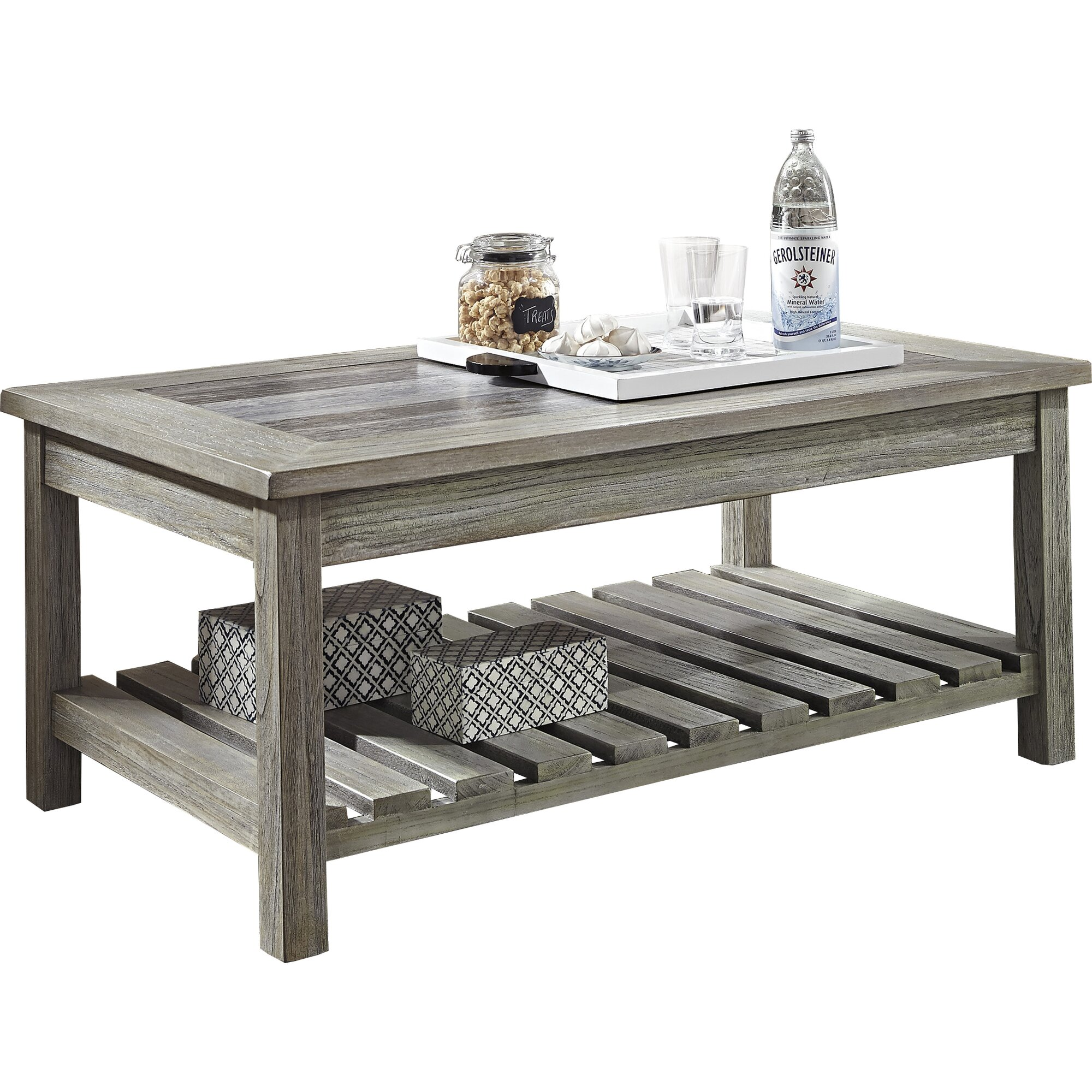Beachcrest Home Briarwood Coffee Table With Magazine Rack