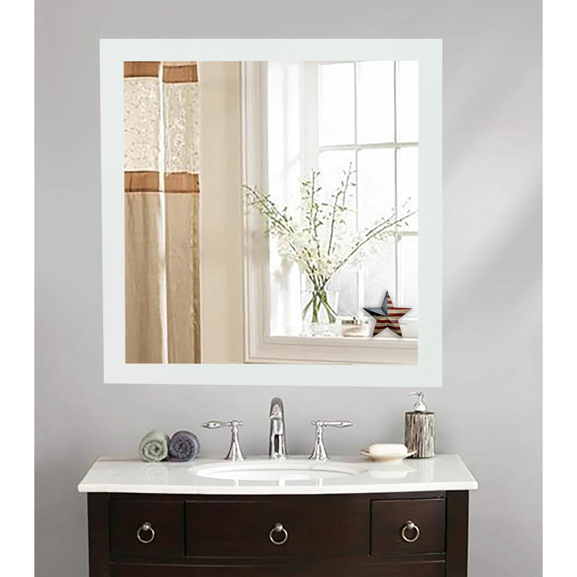 Brayden Studio Classic White Vanity Wall Mirror & Reviews