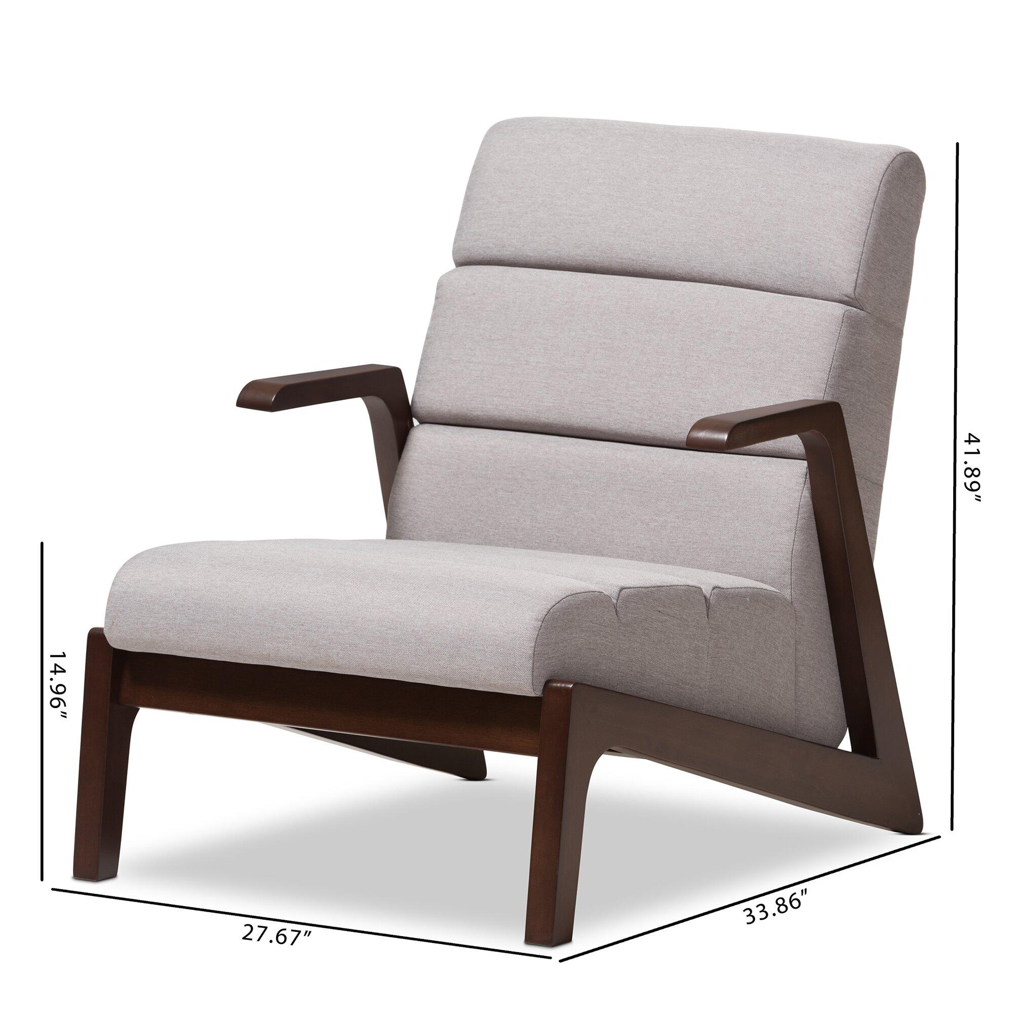 Mid Century Modern Lounge Chairs: Lazzaro Mid-Century Modern Lounge Chair And Ottoman