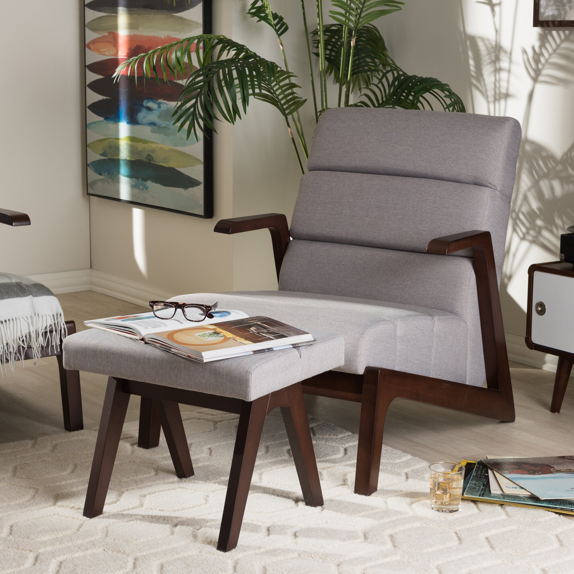 Wholesale Interiors Lazzaro Mid Century Modern Lounge