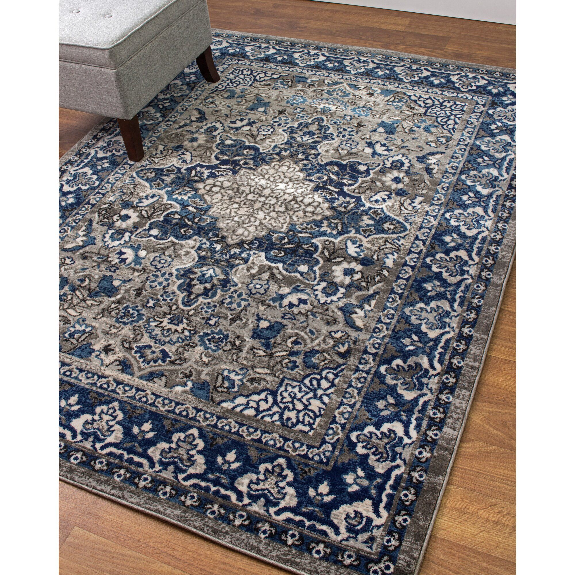 Super Area Rugs Artifact Gray/Blue Area Rug & Reviews ... - photo#48
