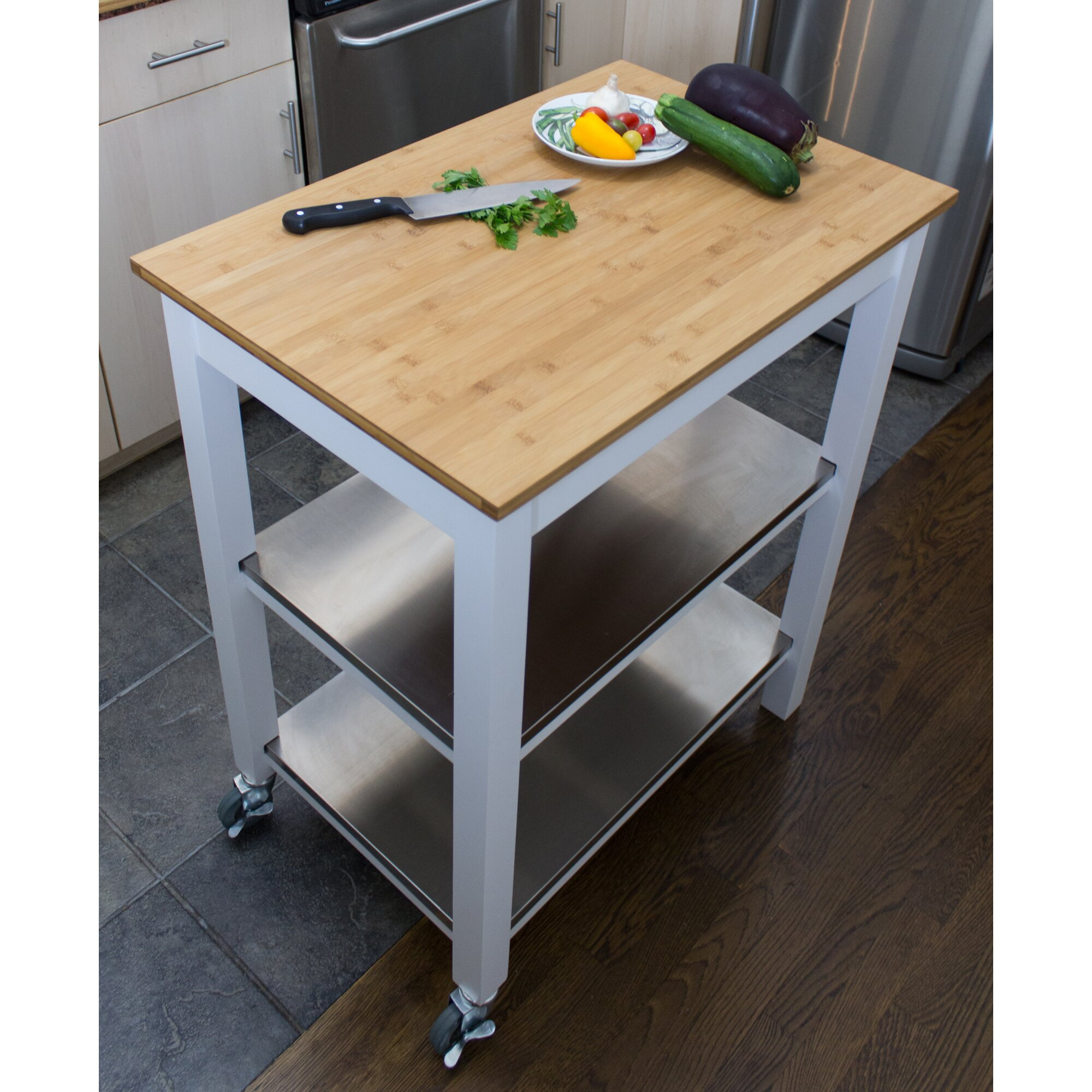 CORNER HOUSEWARES Ultimate Sturdy Oversized Kitchen Island