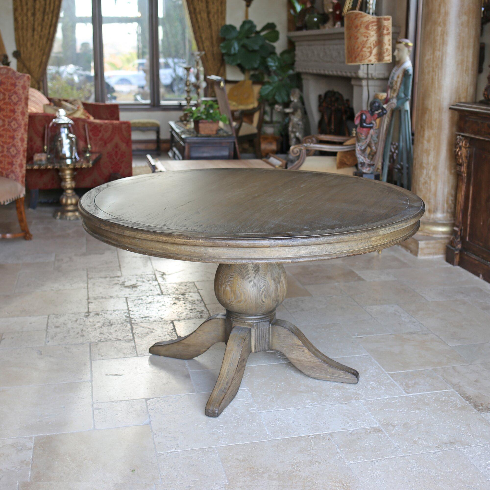 KovetHospitality Florence Reclaimed Wood Round Dining Table ...