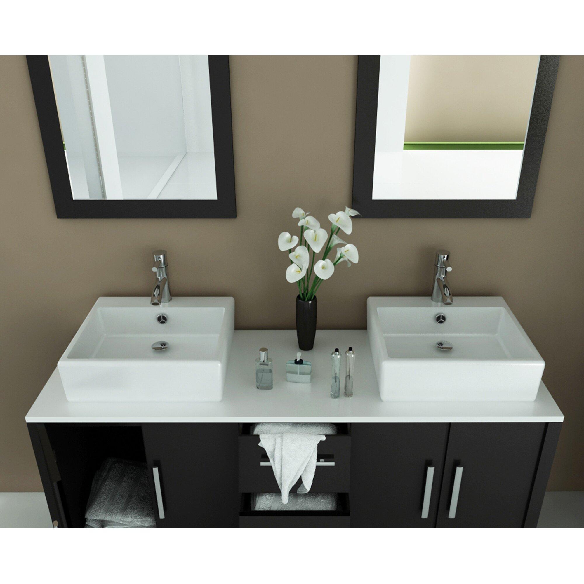 Double Bathroom Sinks And Washing Machine Through 2 Inch Drain