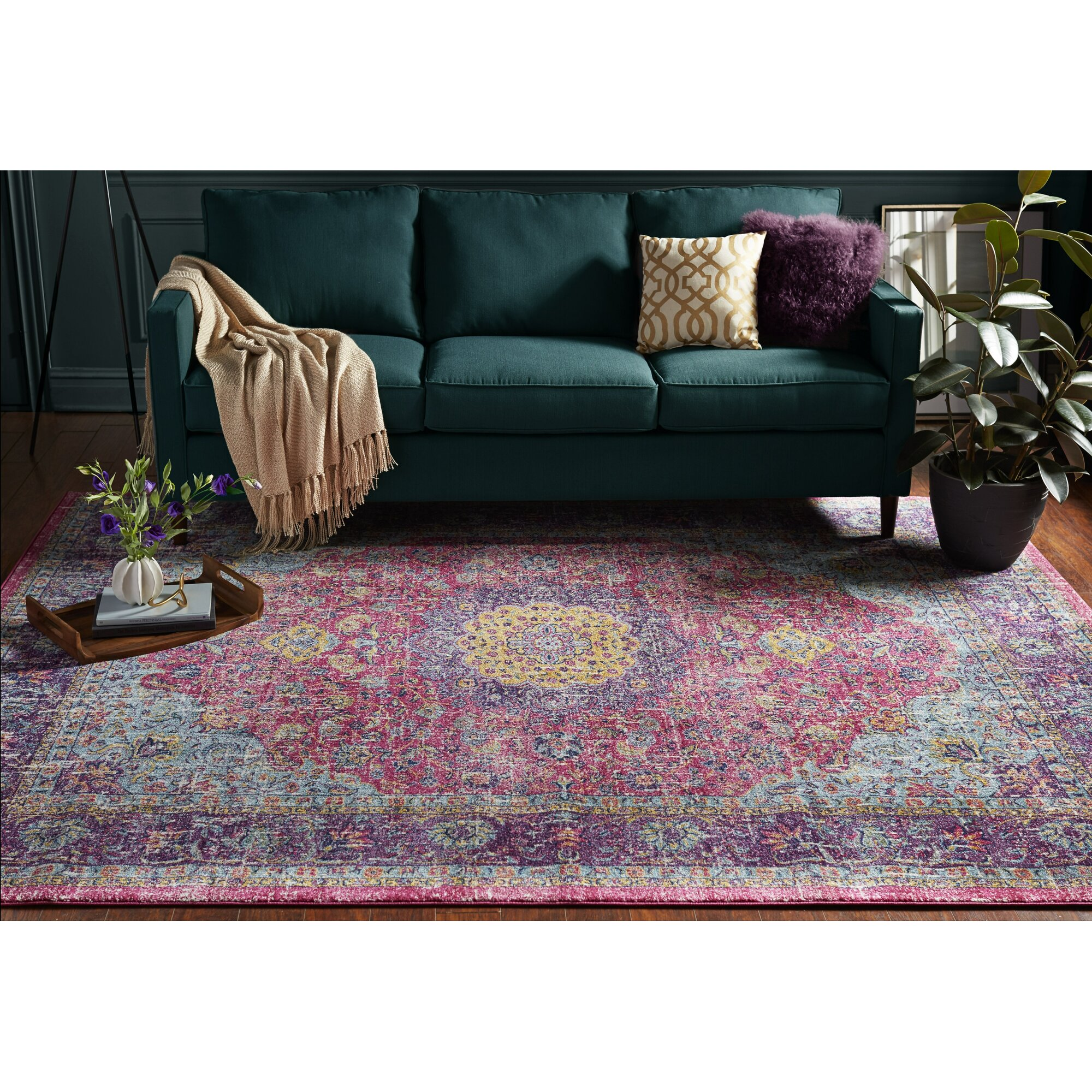 Bungalow Rose™ Varun Pink Area Rug & Reviews