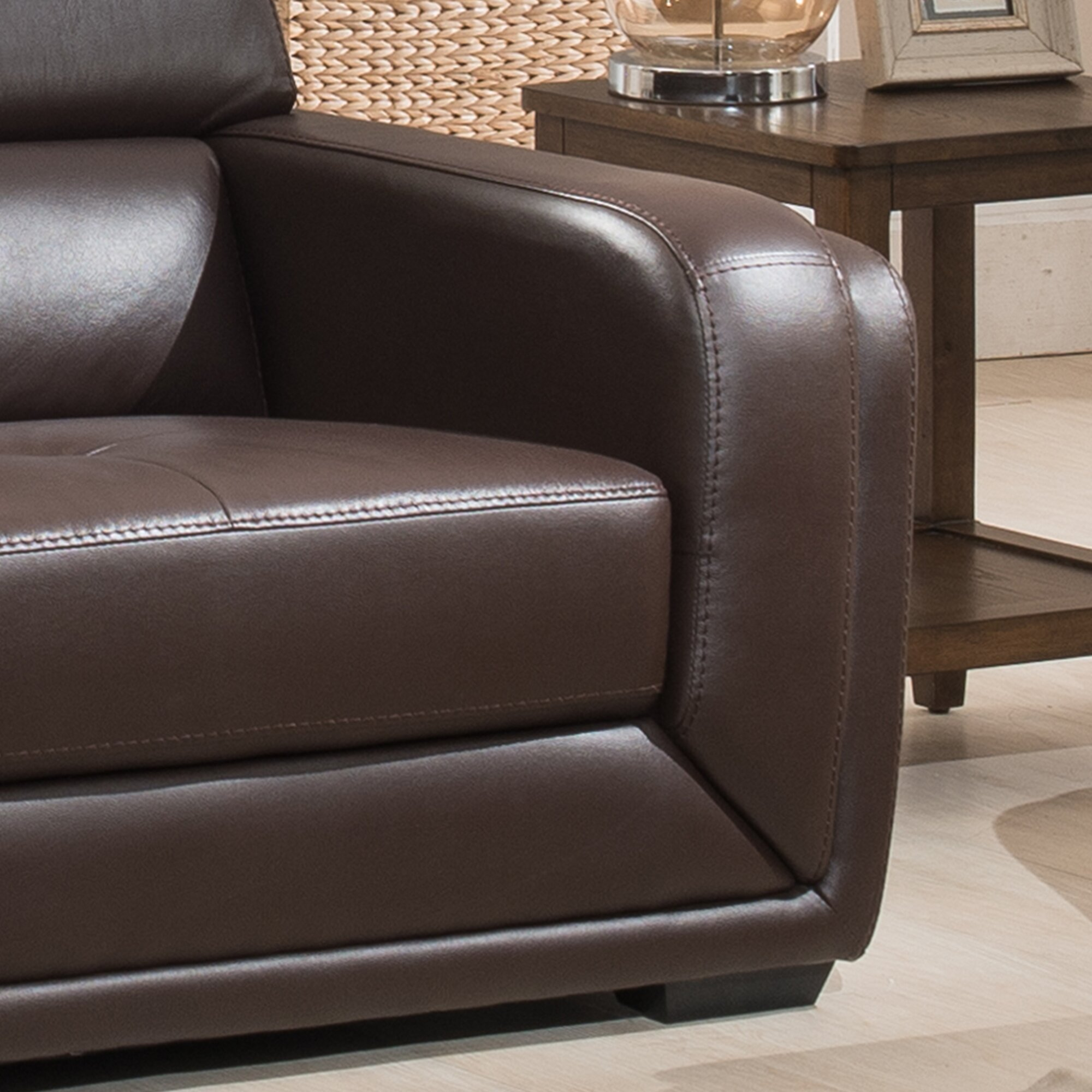 Ac Pacific Calvin Leather Sofa Reviews