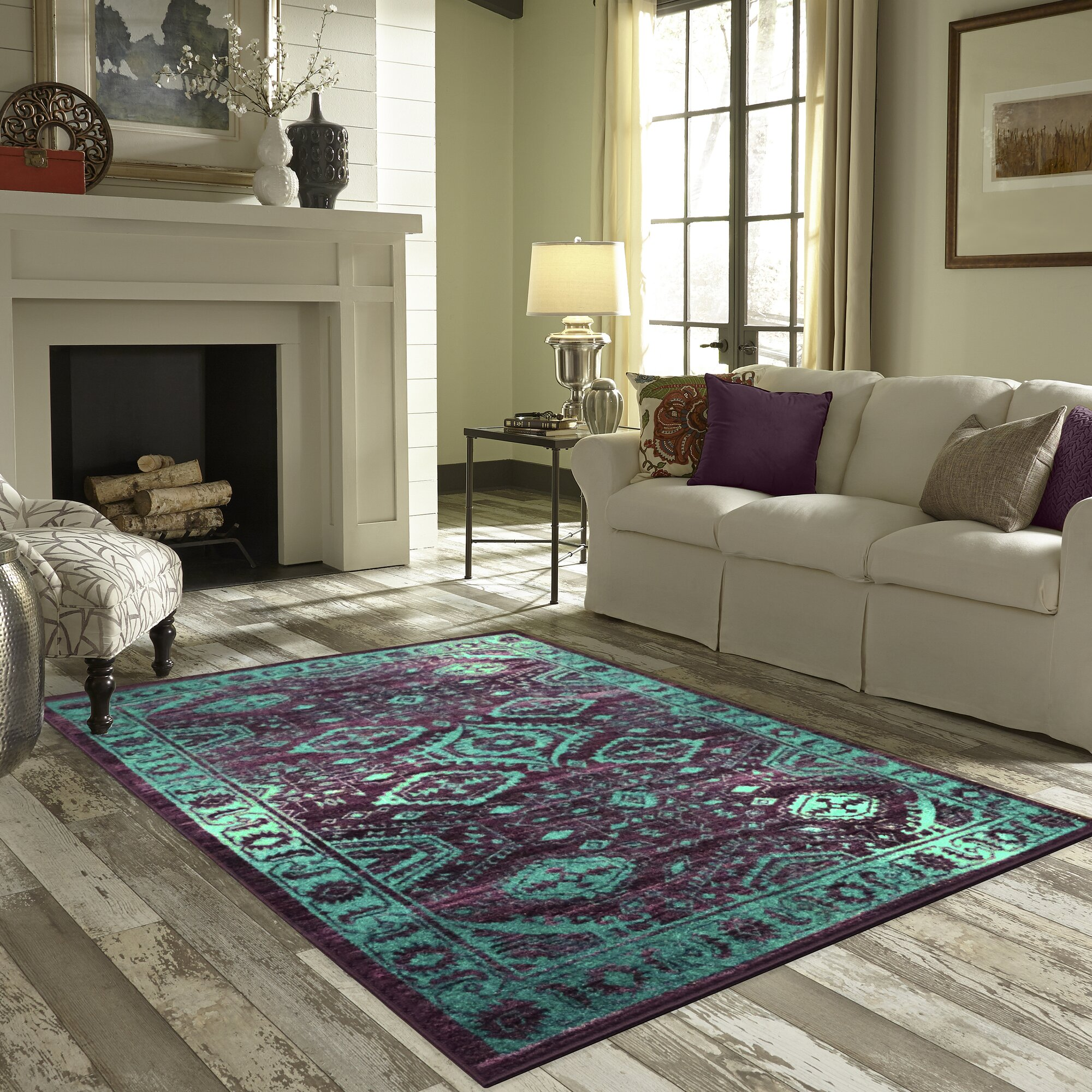 Maples Rugs Jenny Teal Area Rug & Reviews