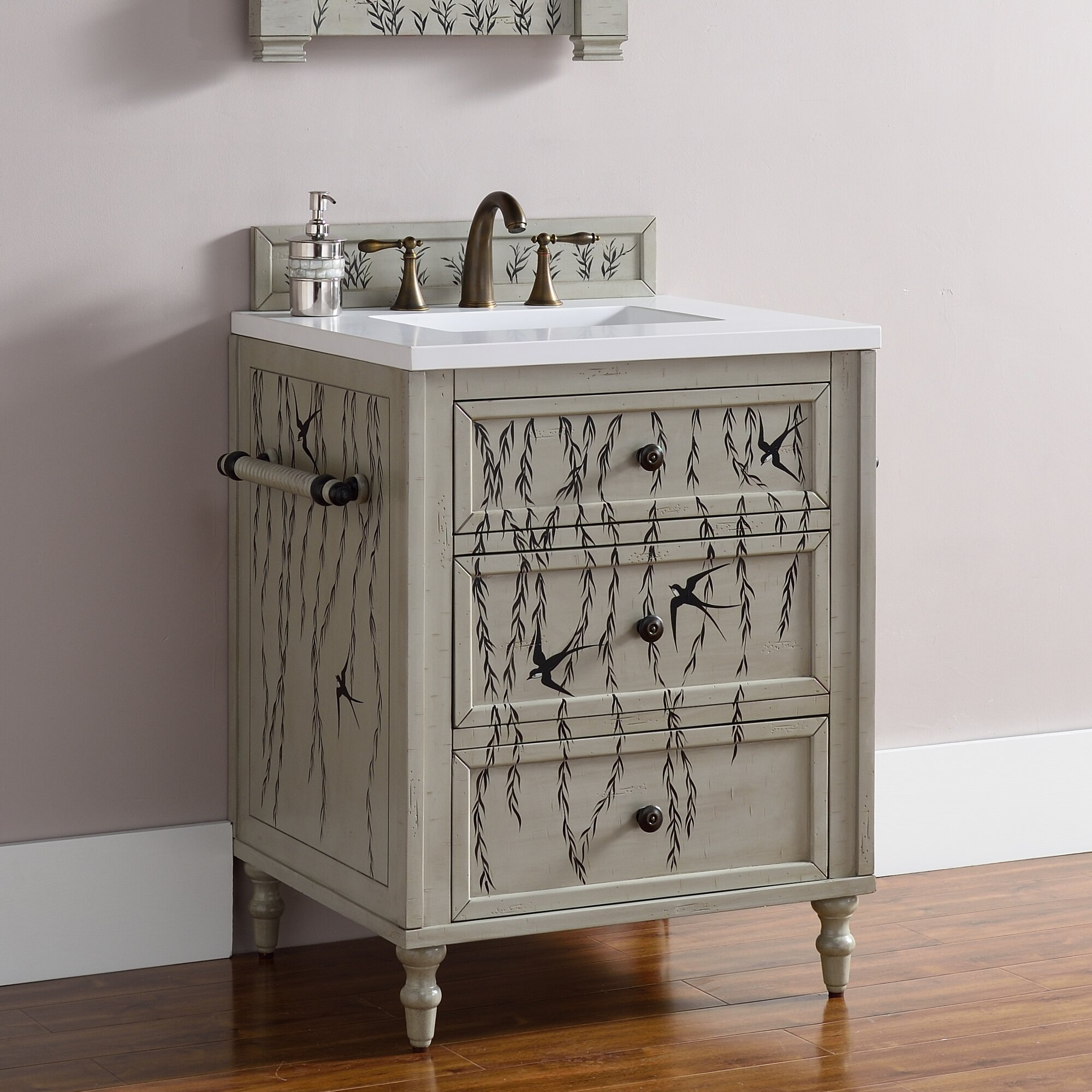 "Copper Bathroom Vanity: James Martin Furniture Copper Cove 26"" Single Bathroom"