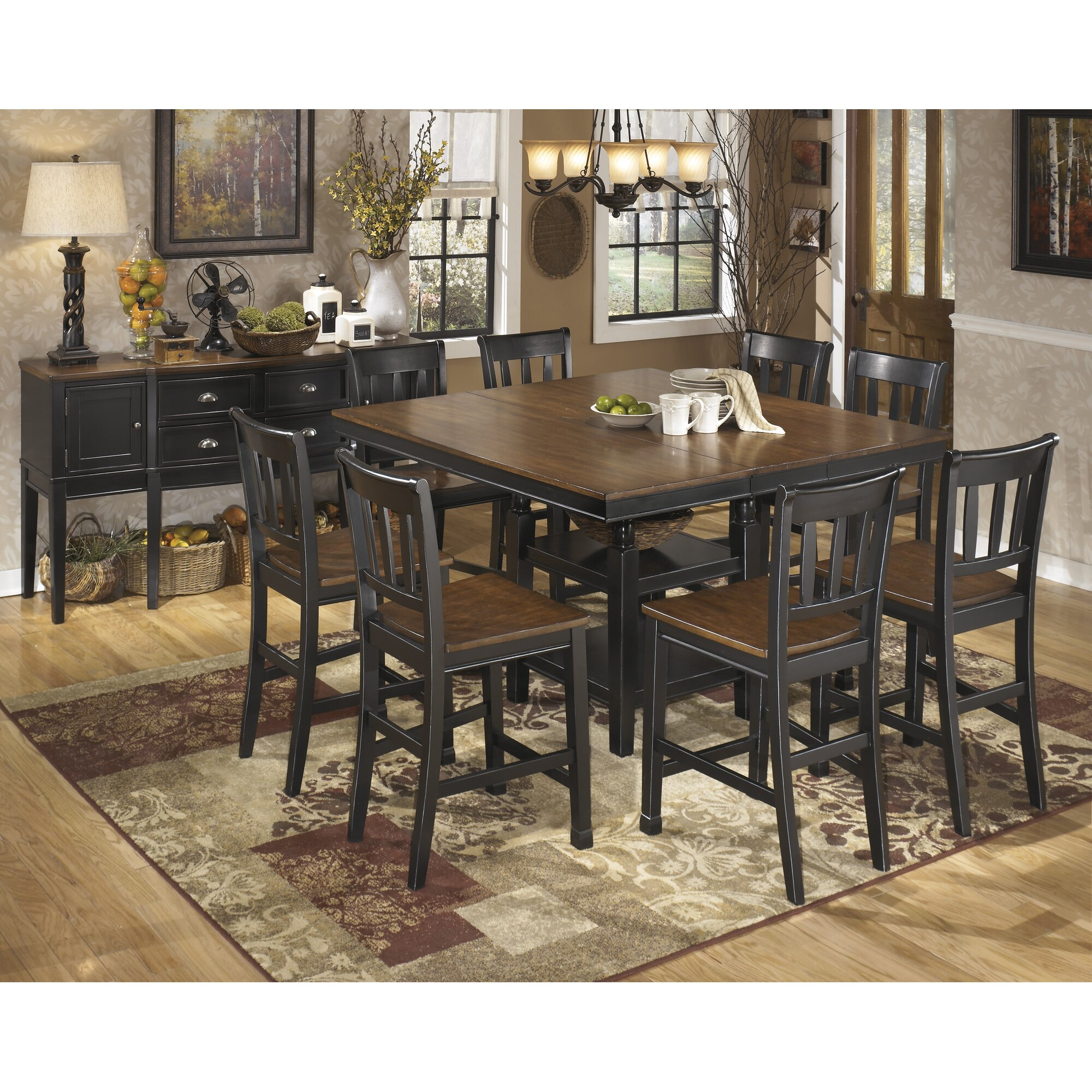 Andover Mills Rollins Extendable Dining Table Reviews: Andover Mills Velma Counter Height Extendable Dining Table