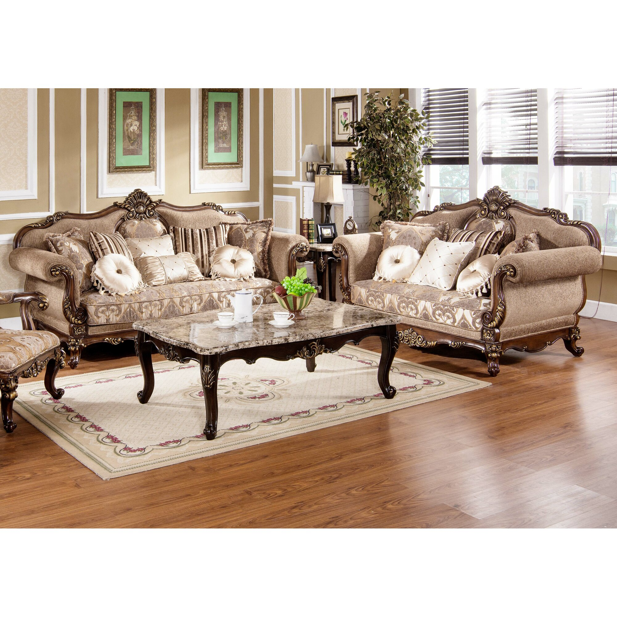 Home Decor Peabody Astoria Grand Peabody Traditional Sofa And Loveseat Set