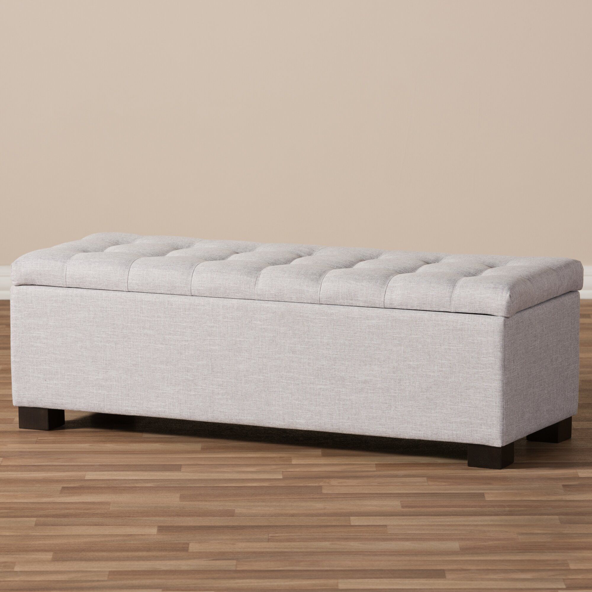 Varian Upholstered Storage Bedroom Bench Reviews: Latitude Run Kareem Upholstered Storage Bedroom Bench