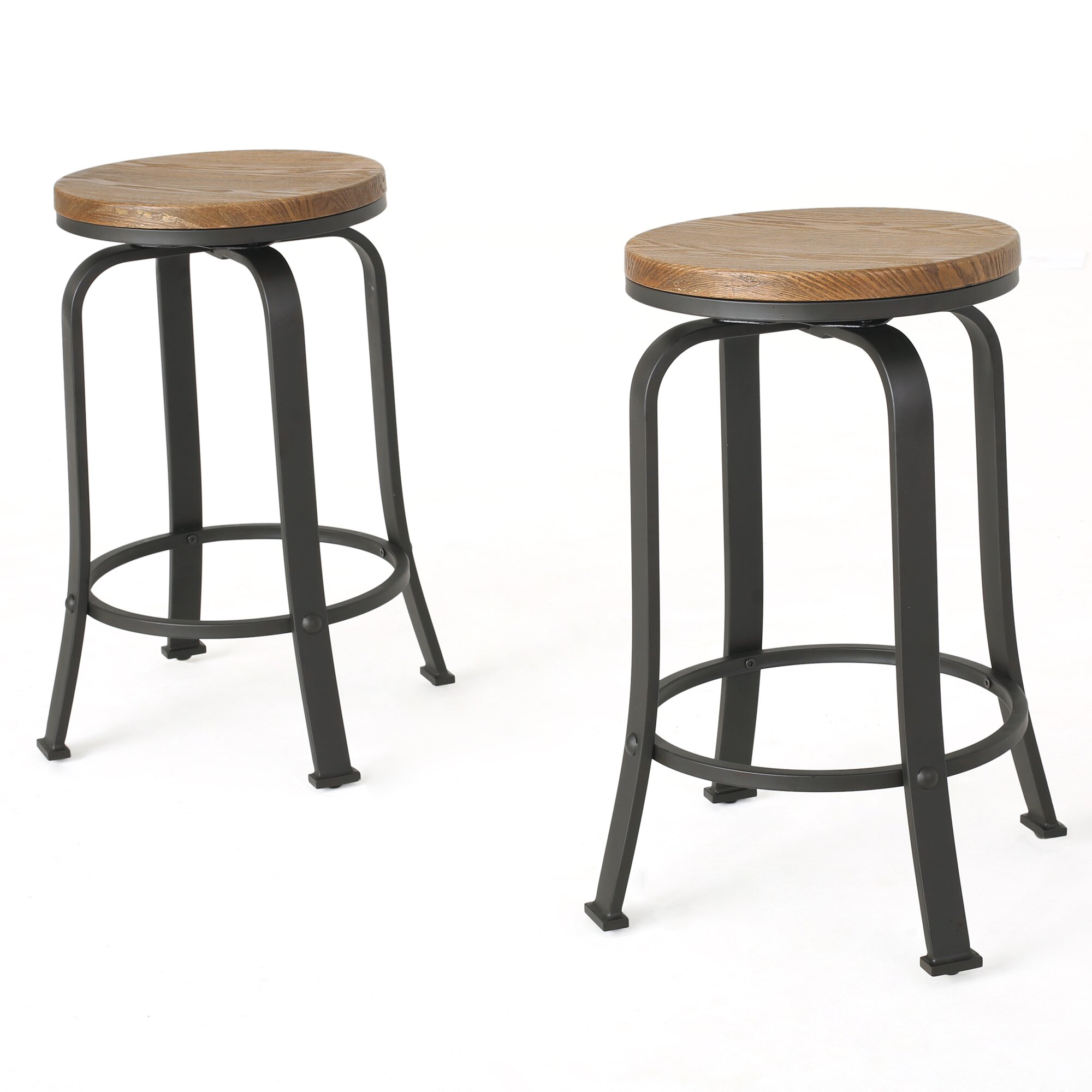 Darby Home Co Fortville 24quot Swivel Bar Stool amp Reviews  : Fortville2422SwivelBarStool from www.wayfair.com size 2000 x 2000 jpeg 178kB