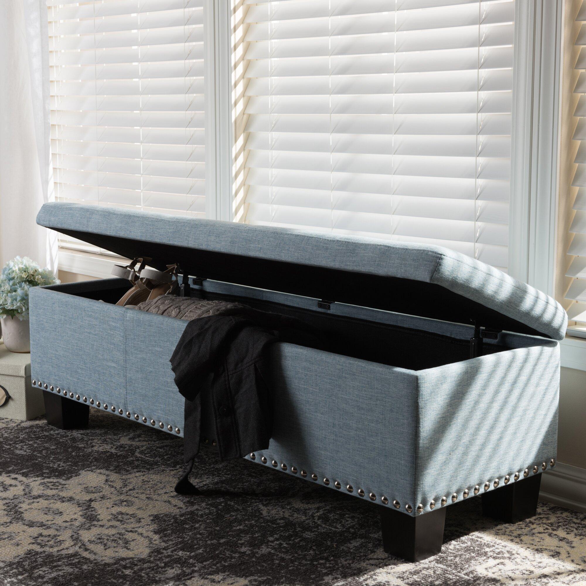Alcott Hill Back Bay Upholstered Storage Bedroom Bench Reviews