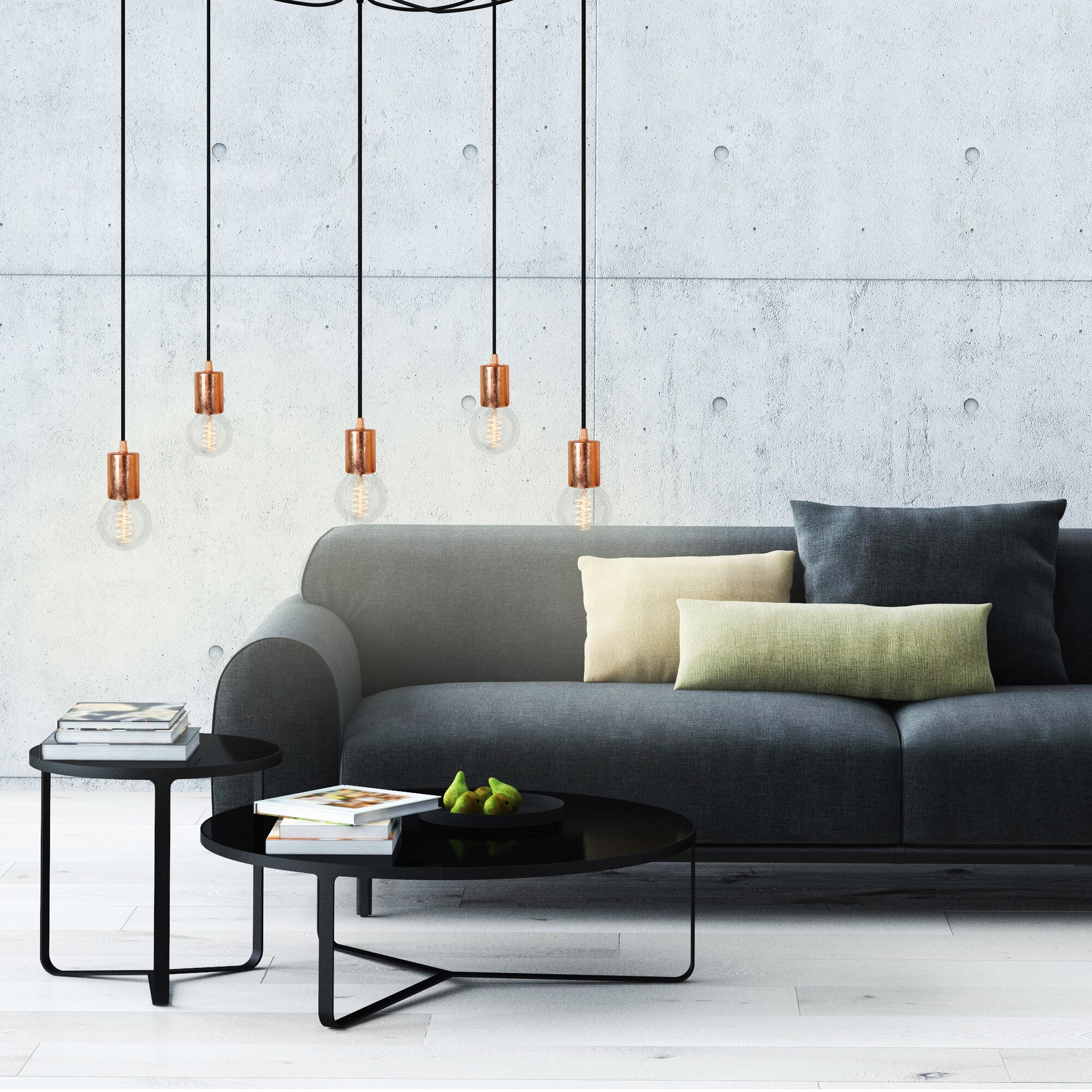 urban facettes kaskaden pendelleuchte 5 flammig cero bewertungen. Black Bedroom Furniture Sets. Home Design Ideas