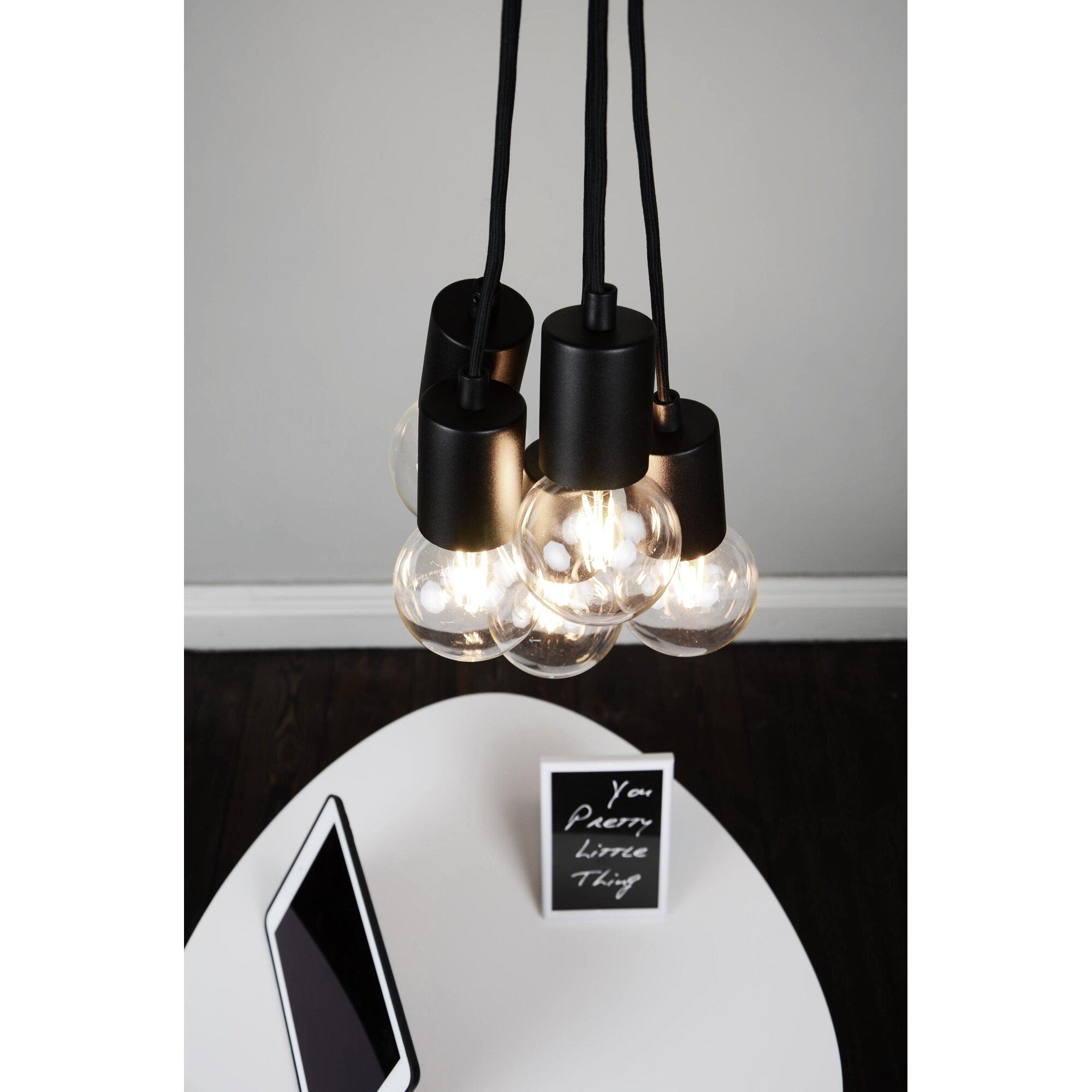 bulb attack kaskaden pendelleuchte 5 flammig cero basic. Black Bedroom Furniture Sets. Home Design Ideas