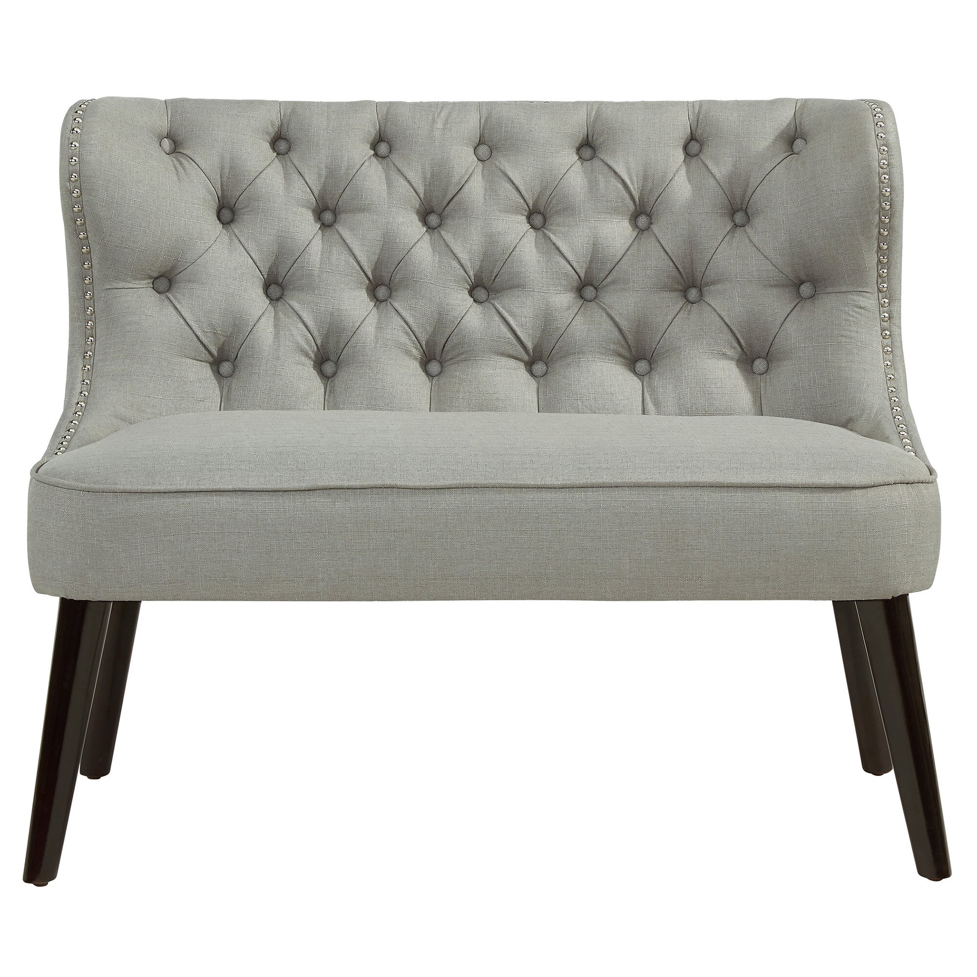 House Of Hampton Doring Tufted Wing Back Settee Bedroom