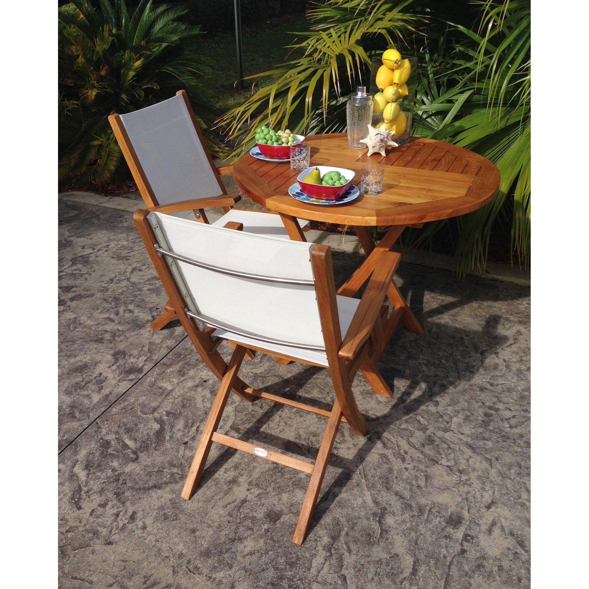 ChicTeak Elzas Teak Folding Dining Table & Reviews | Wayfair