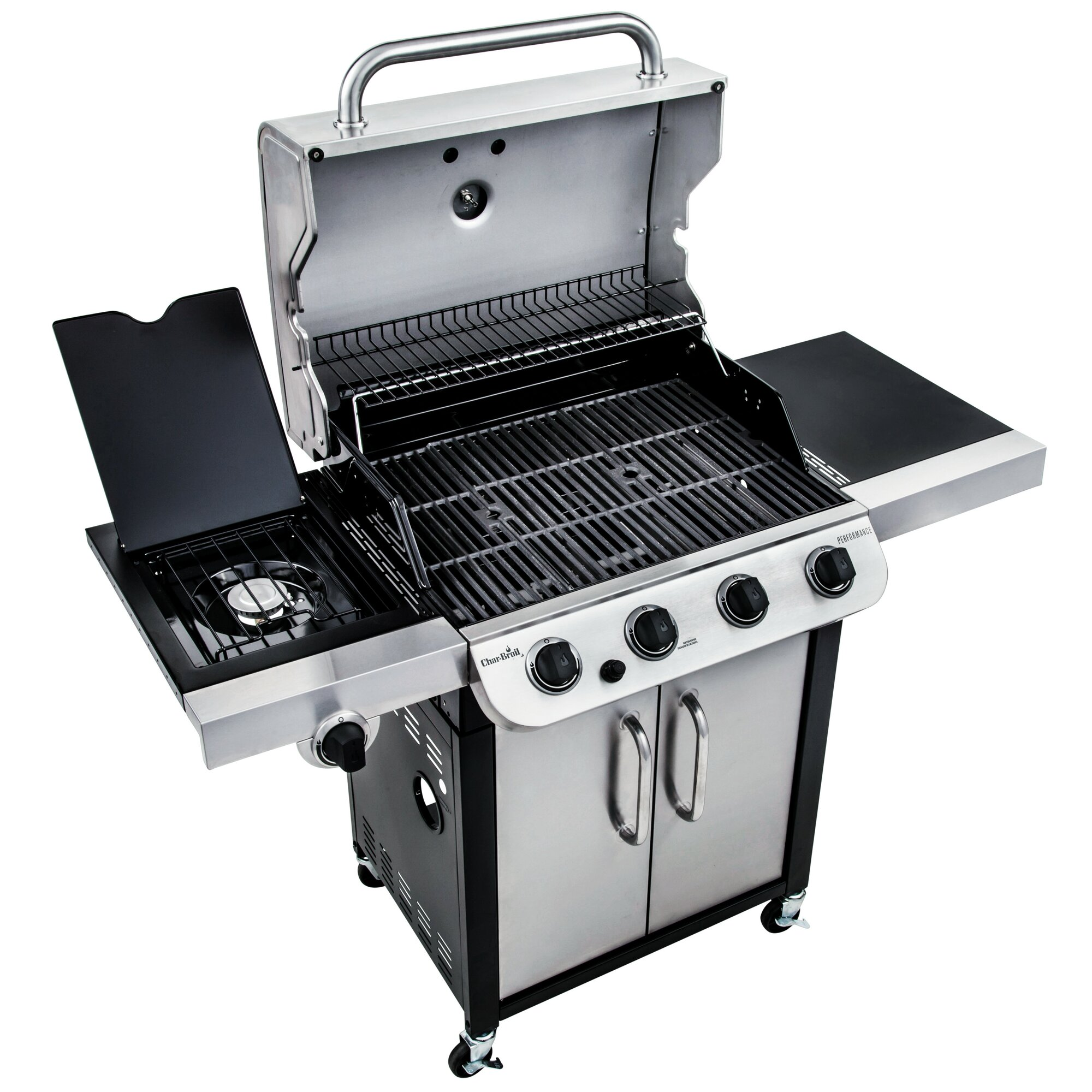 kitchenaid 4 burner propane gas grill in stainless steel with ...