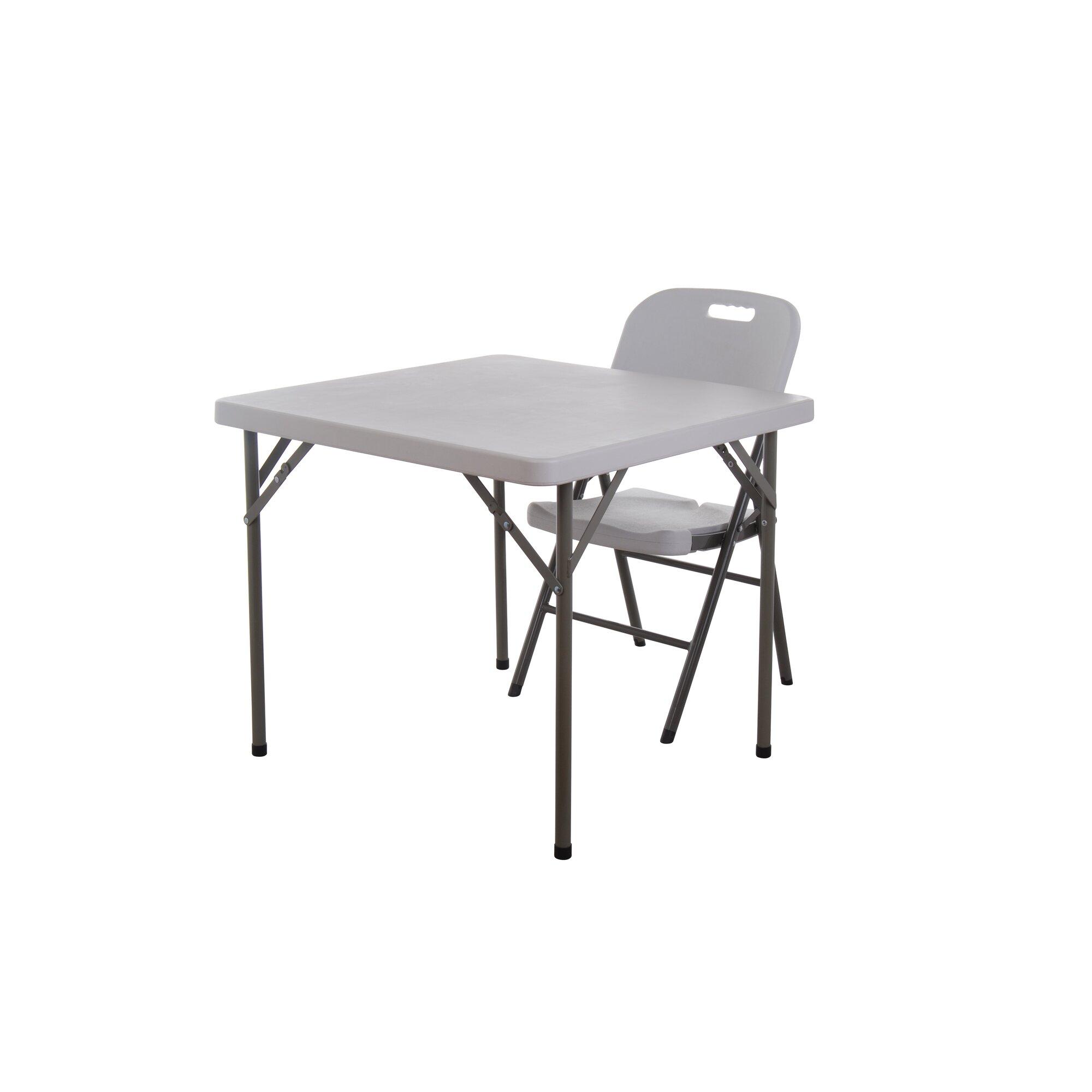 Square folding tables - Homcom 34 Square Folding Table