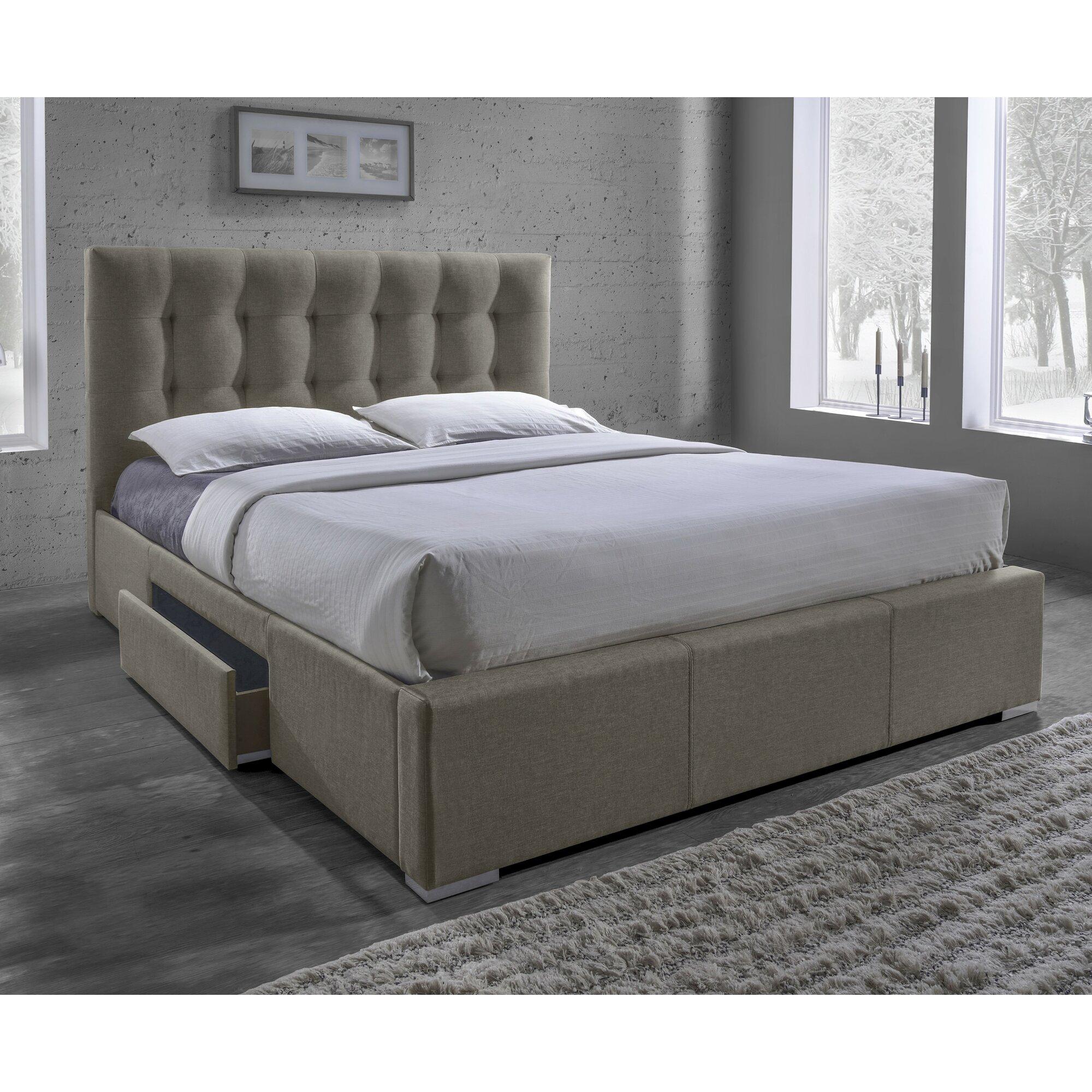 Latitude Run Alejo Upholstered Storage Platform Bed & Reviews ...