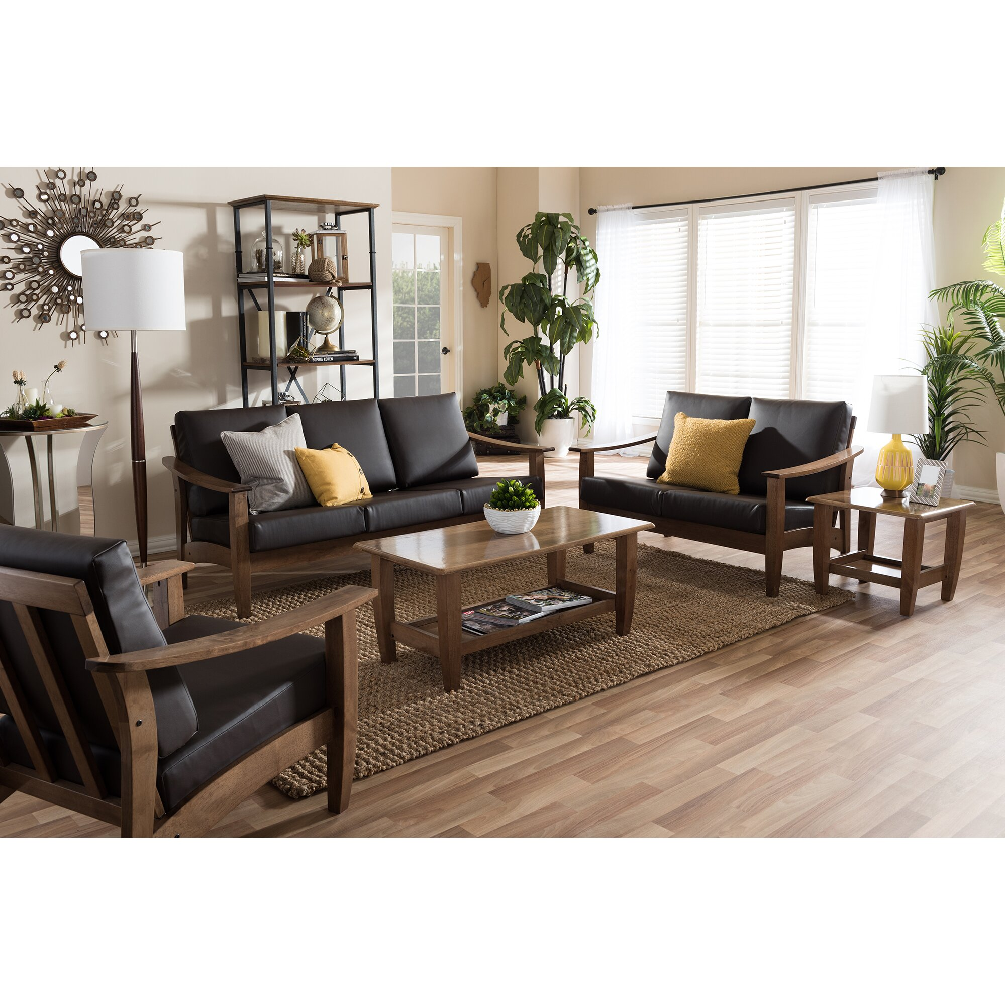 Ahart 5 piece living room set reviews allmodern for Living room 5 piece sets