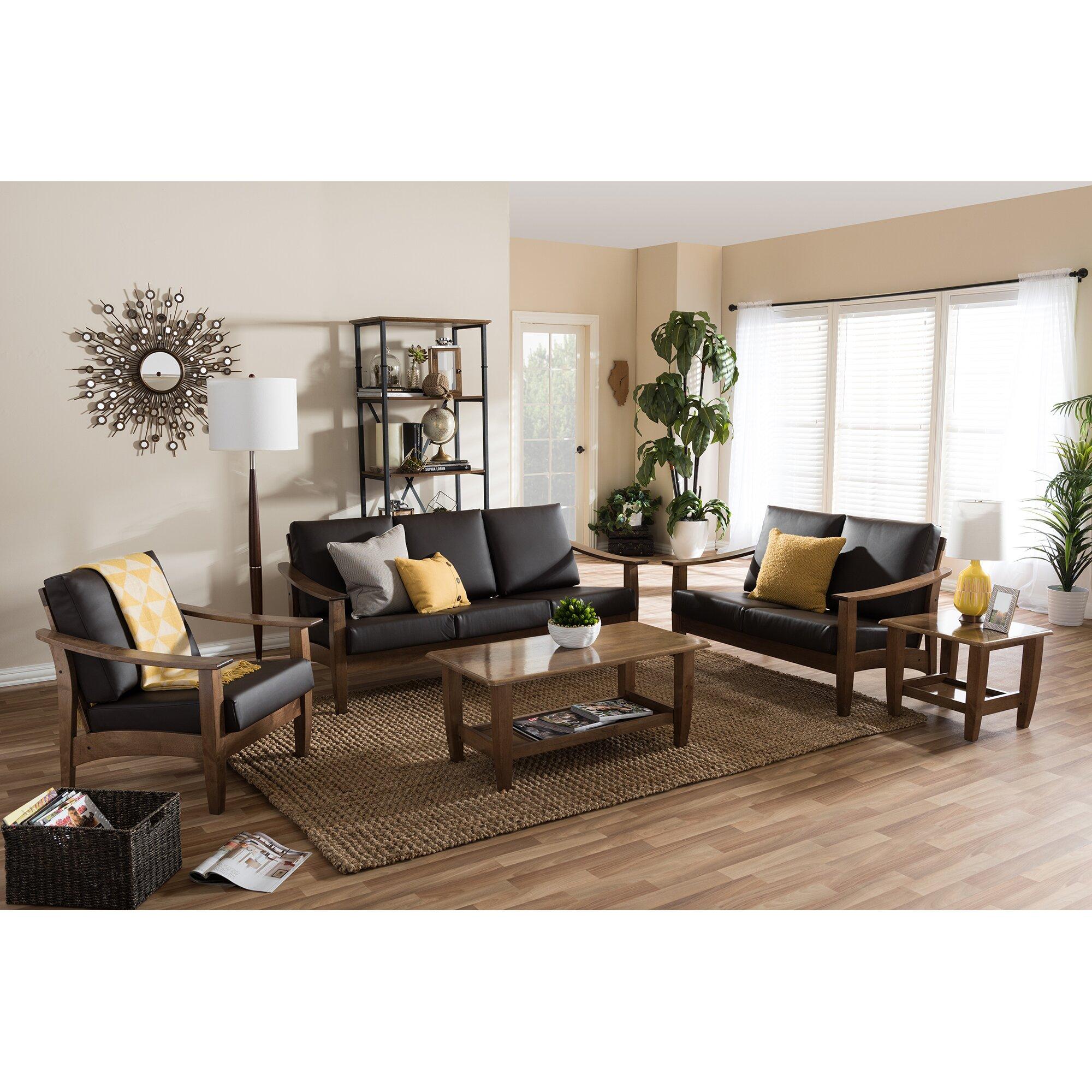 Ahart 5 piece living room set reviews allmodern for 5 piece living room set