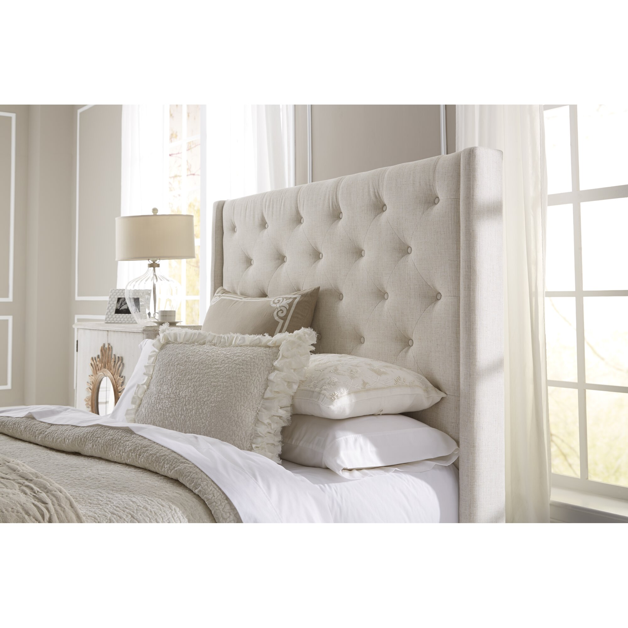 lark manor fares upholstered wingback headboard  reviews  wayfair, Headboard designs