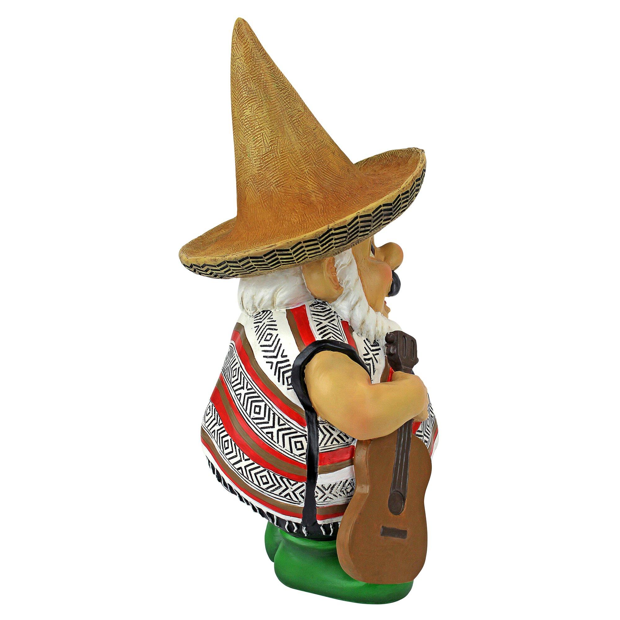 Design Toscano Pancho the Mariachi Garden Gnome Statue & Reviews ...