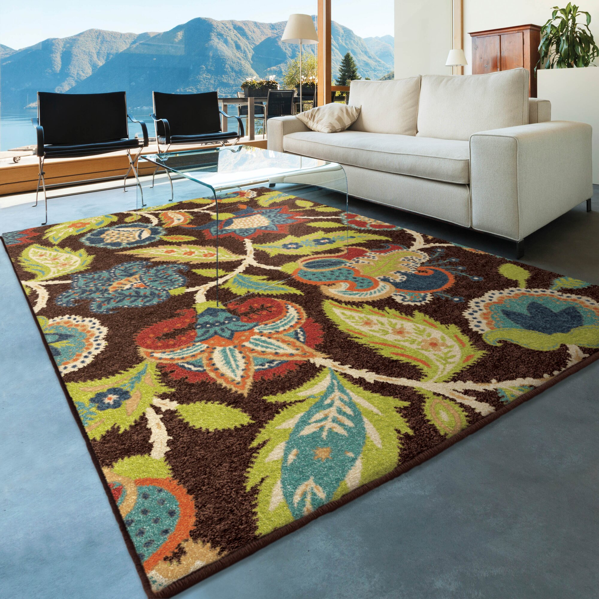 8x10 Indoor Outdoor Area Rugs: Threadbind Orwell Brown Indoor/Outdoor Area Rug & Reviews