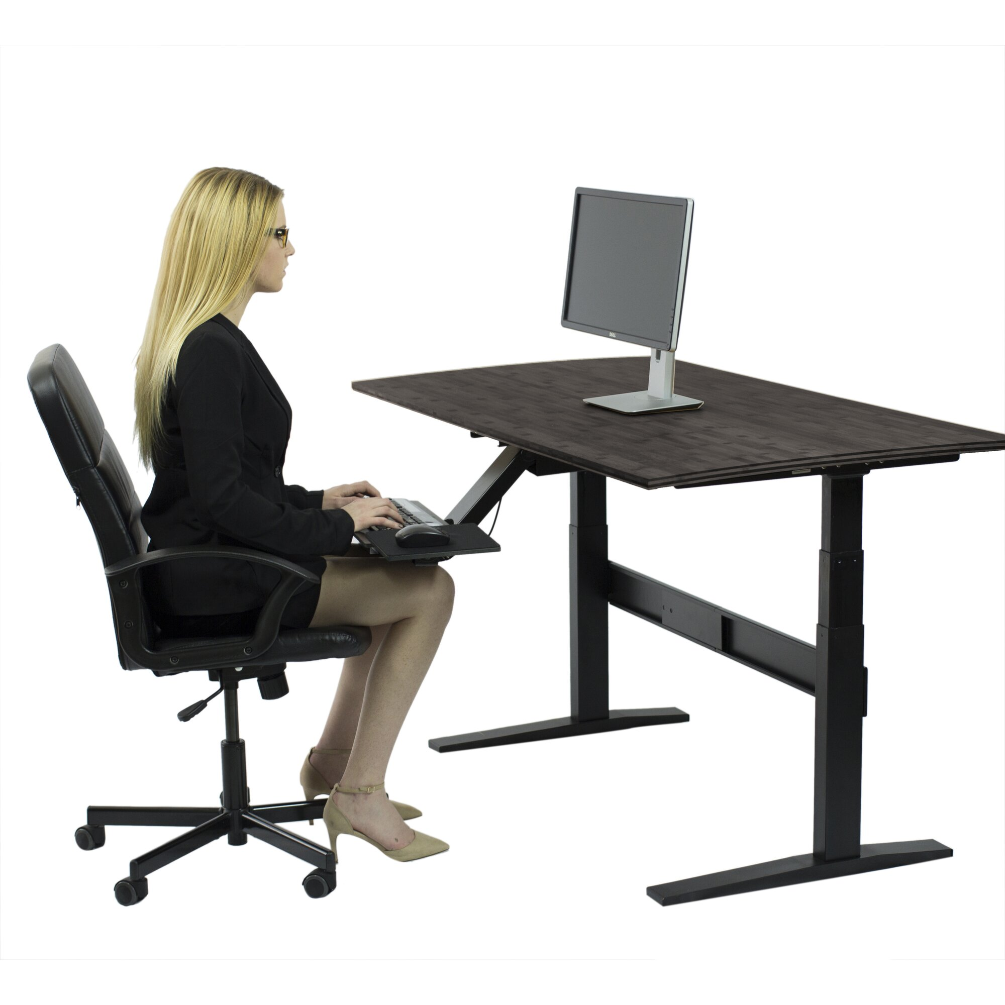 Uncaged Ergonomics Rise Up Standing Desk Amp Reviews Wayfair