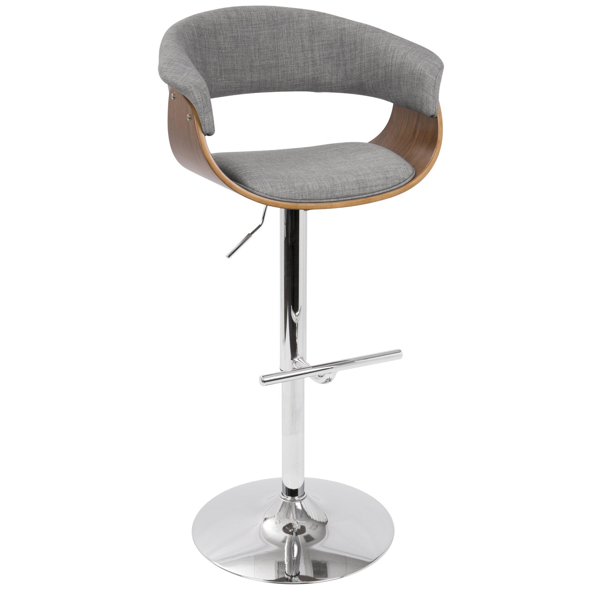 Gale Adjustable Height Swivel Bar Stool Amp Reviews Allmodern