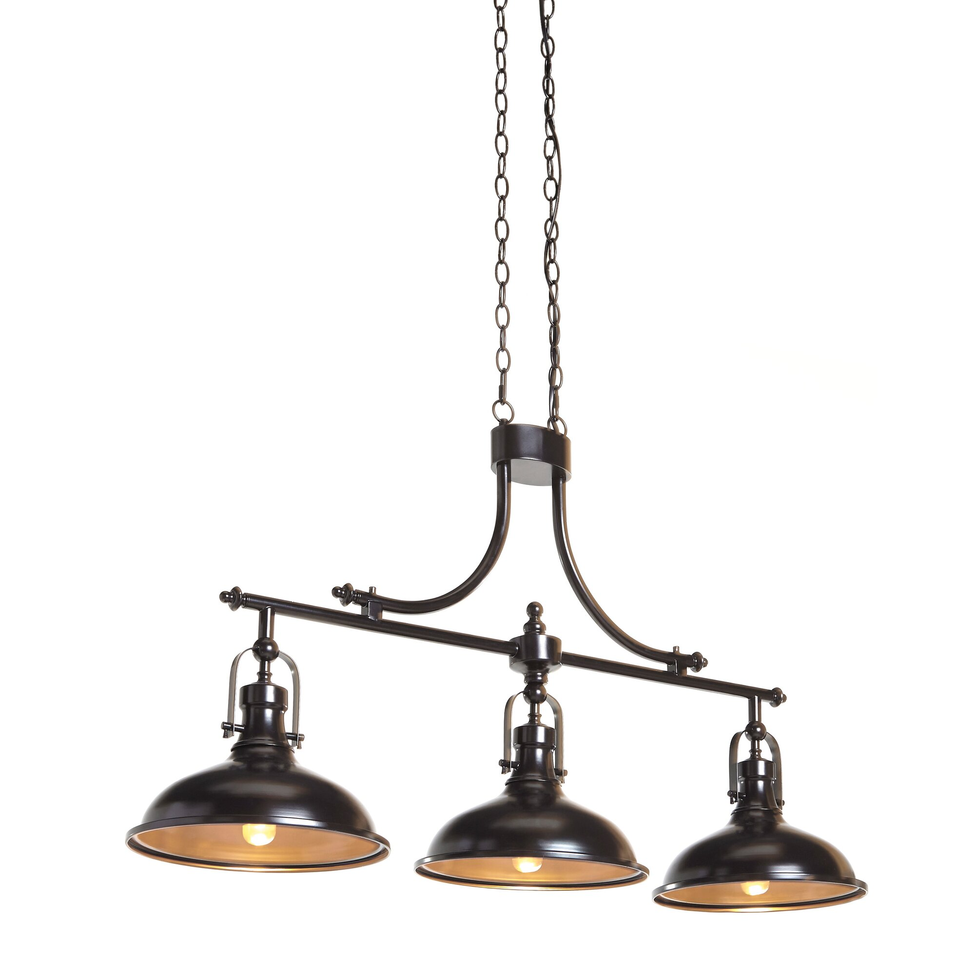 3 light pendant island kitchen lighting breakwater bay strauss 3 light kitchen island pendant 8979