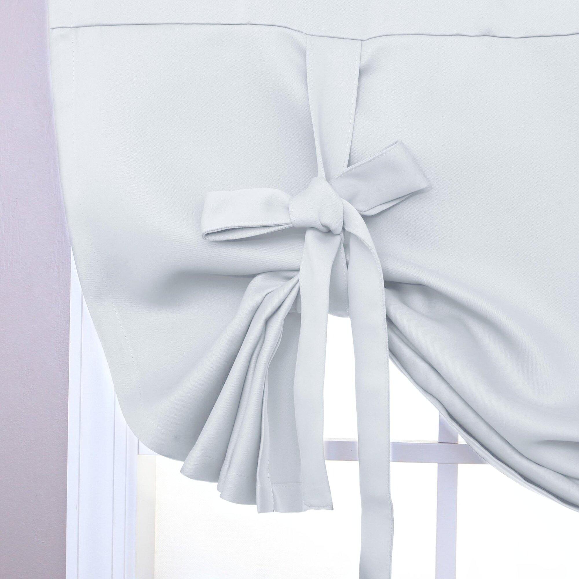 aleko tie up solid blackout rod pocket thermal single curtain panel reviews. Black Bedroom Furniture Sets. Home Design Ideas