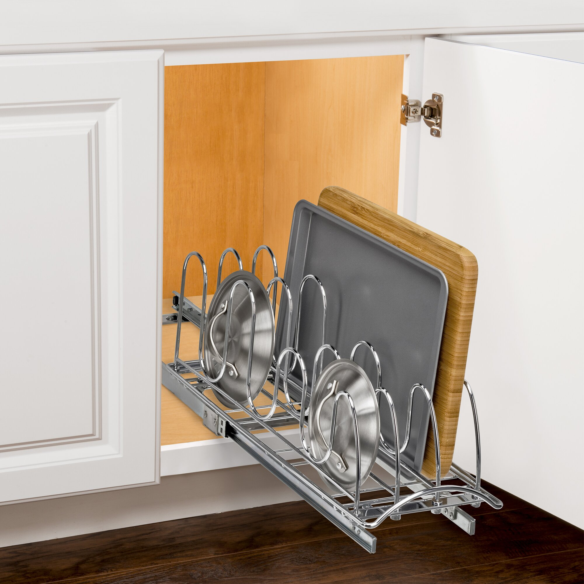 cabinet organizers youll love wayfair - Kitchen Cabinet Shelving
