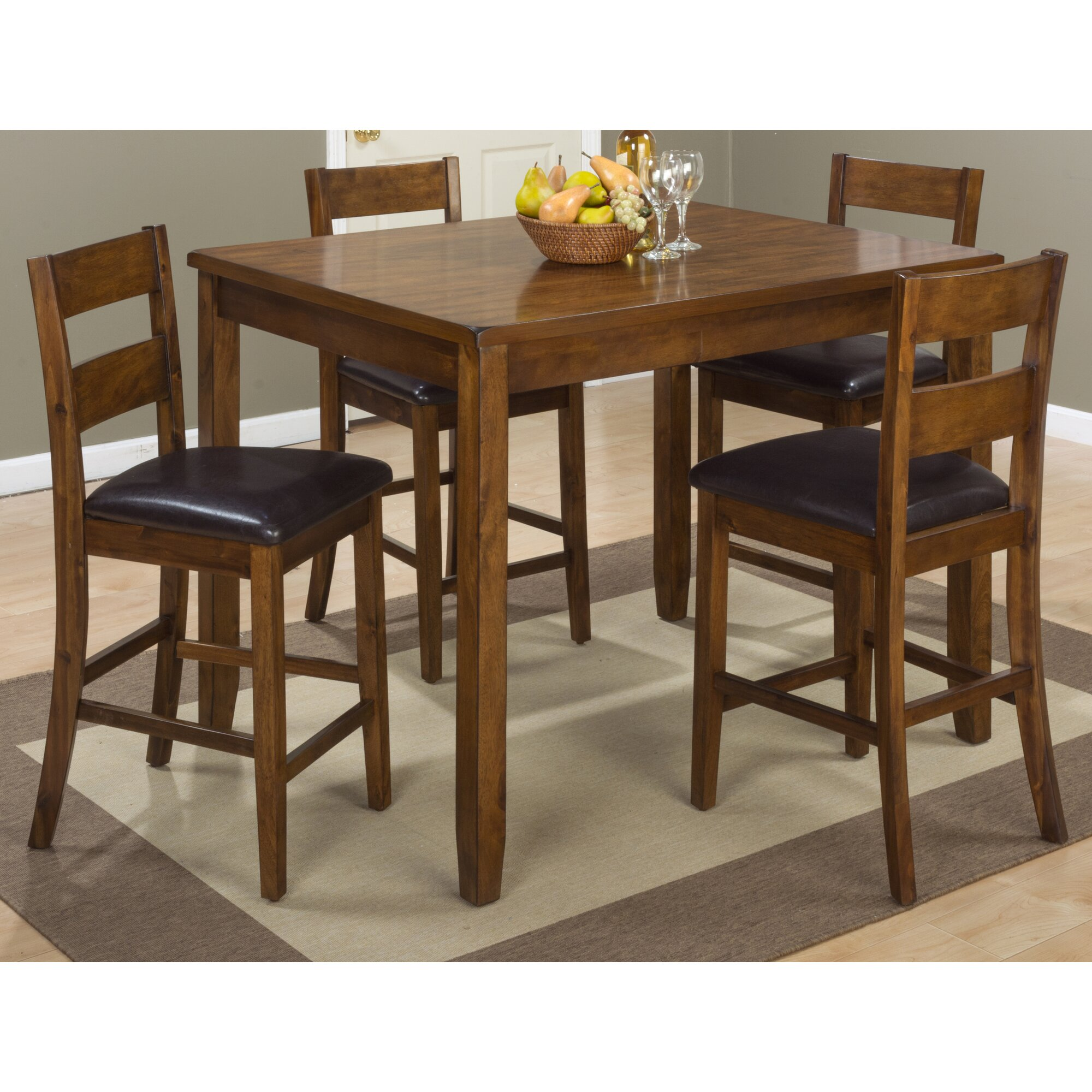 loon peak fort morgan 5 piece counter height pub table set reviews
